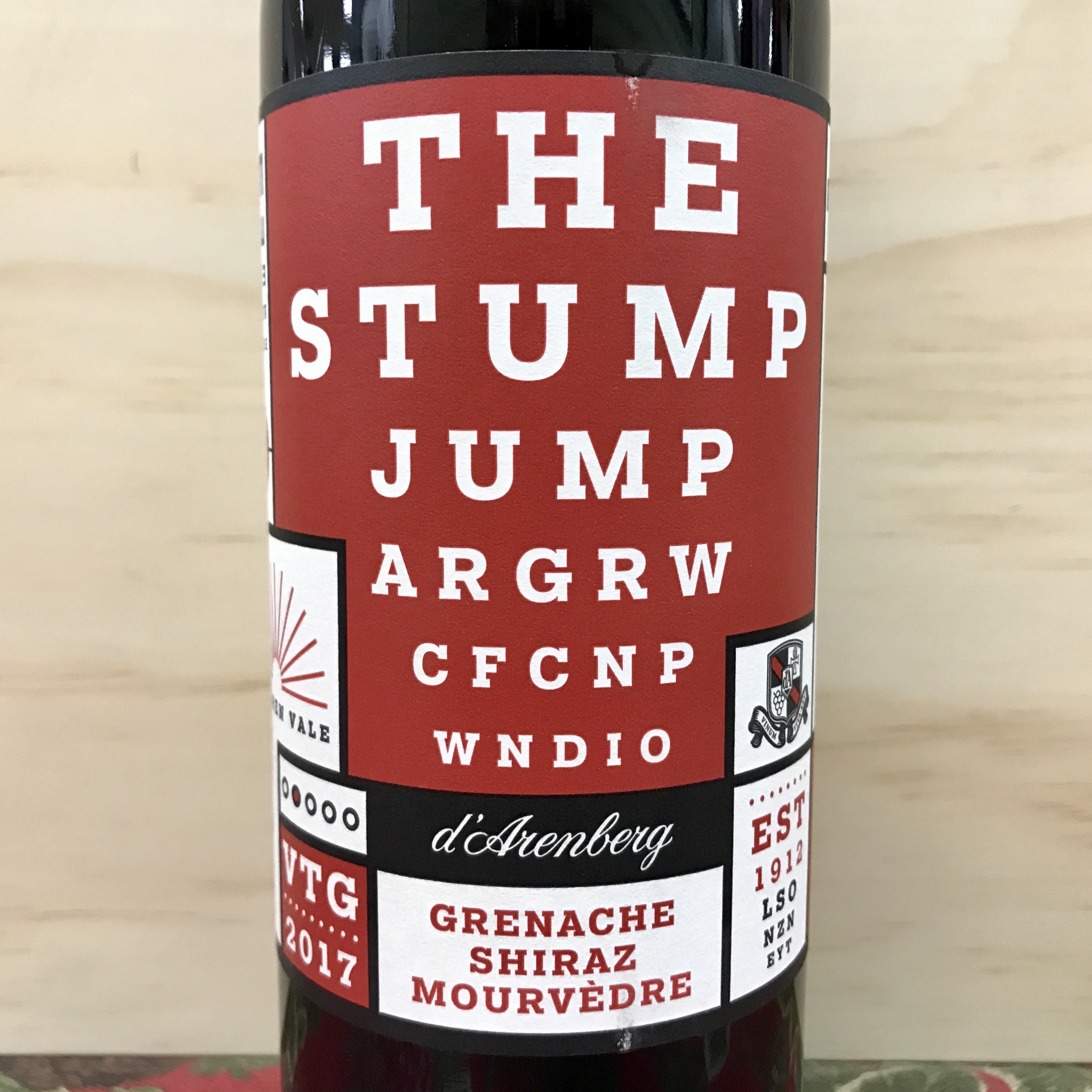 D'Arenberg The Stump Jump Grenache Shiraz Mouvedre 2017