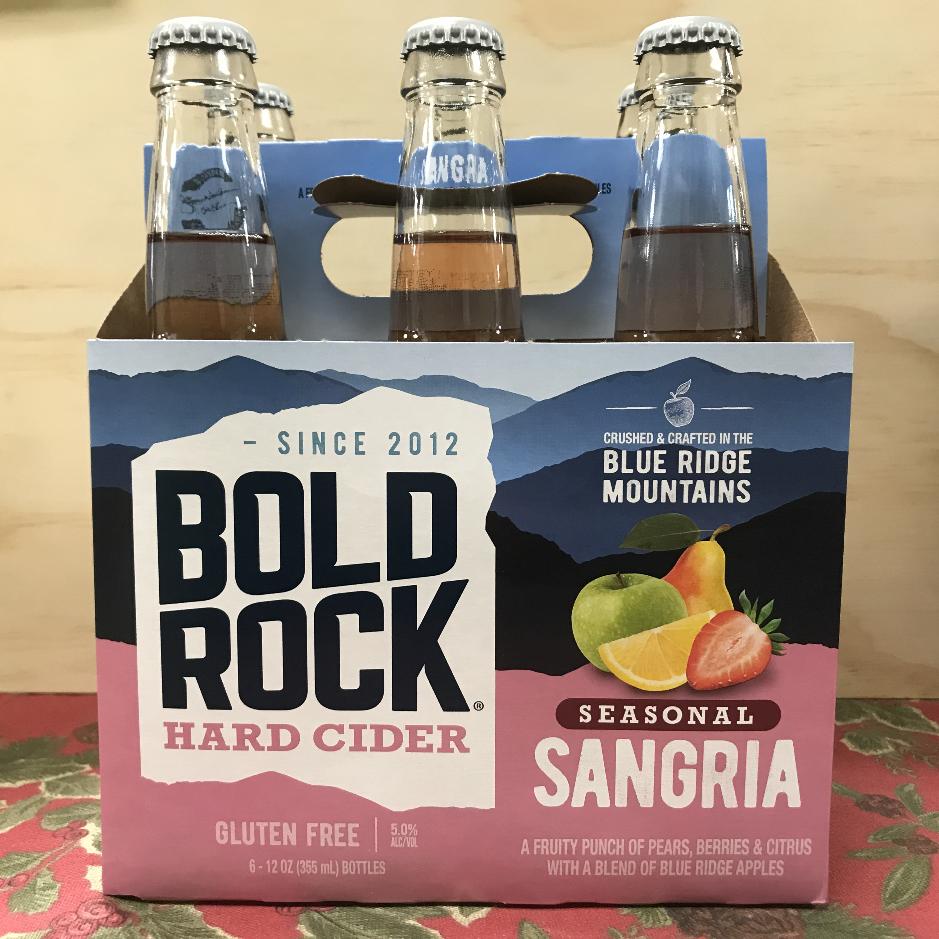 Bold Rock Seasonal Sangria Hard Cider 6 x 12oz bottles