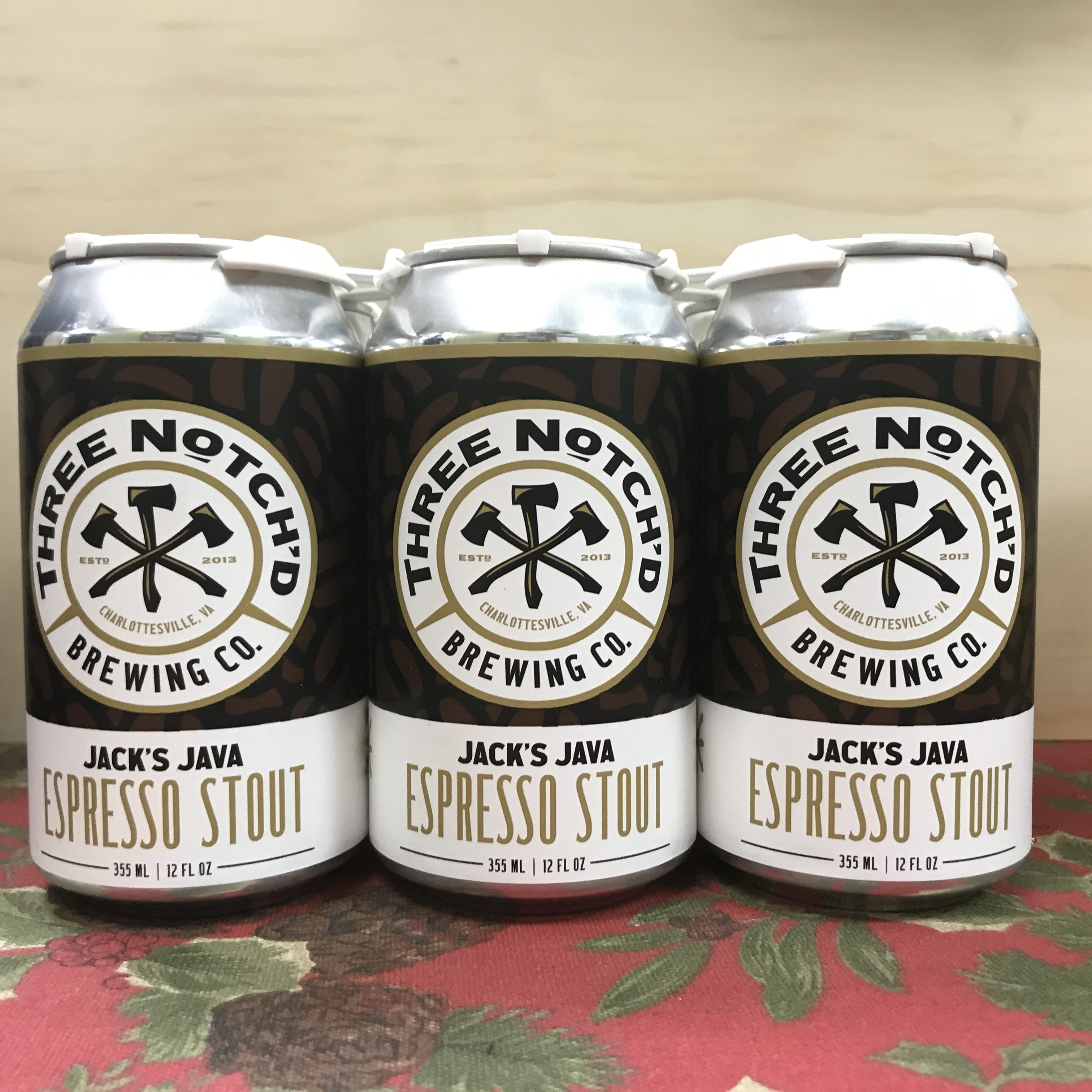 Three Notch'd Jack's Java Espresso Stout 6 x 12 oz cans