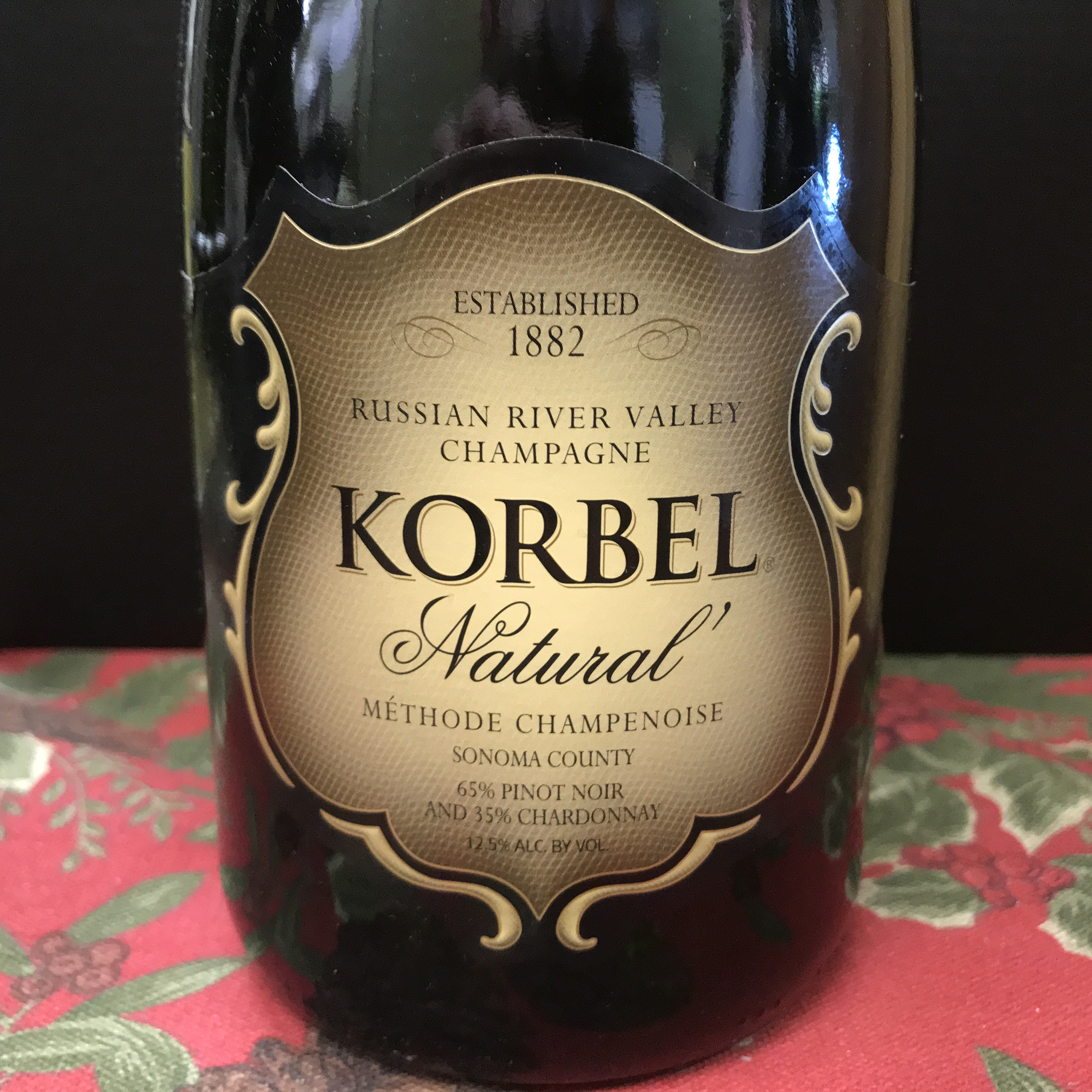 Korbel 'Natural' Brut Russian River Sparkling 2015