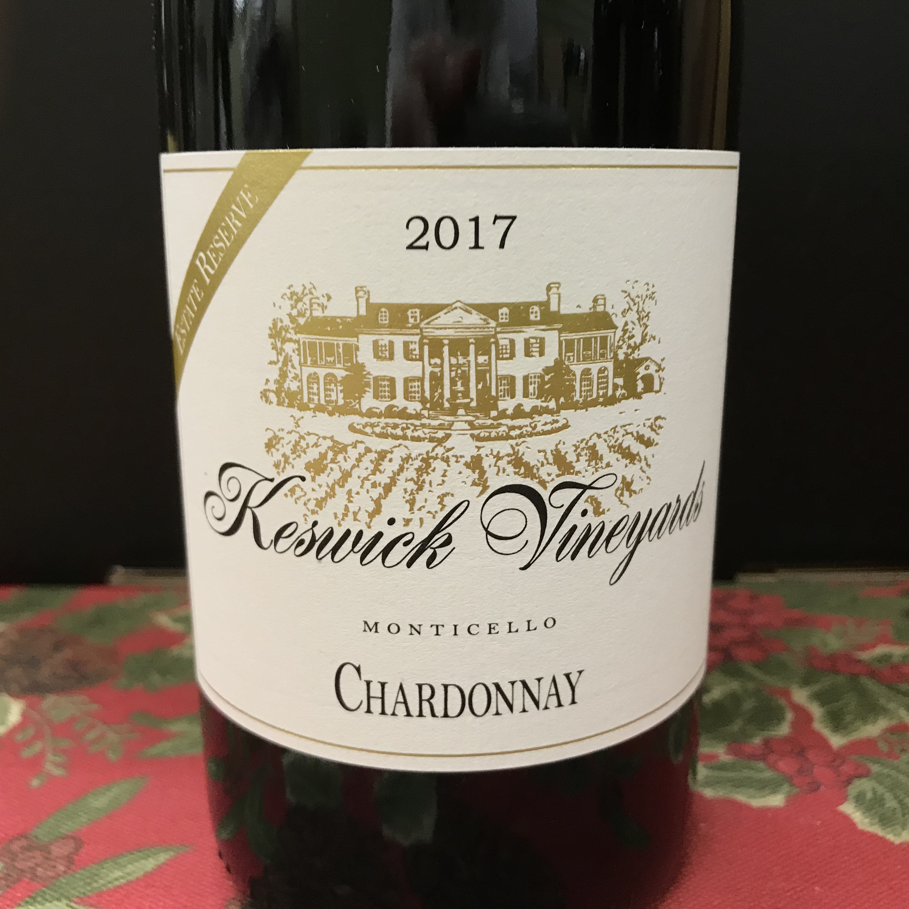 Keswick Vineyards Monticello Chardonnay 2017