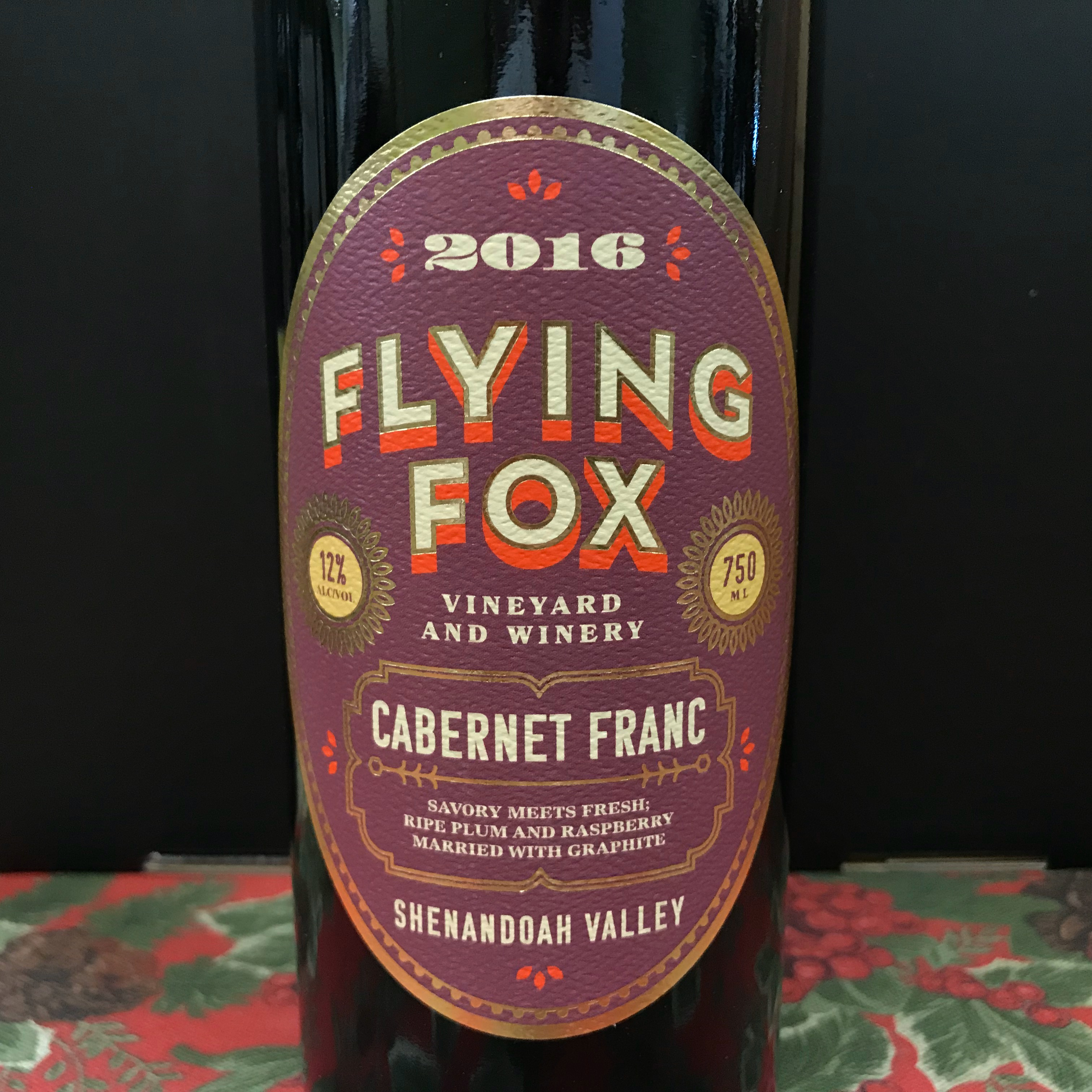 Flying Fox Cabernet Franc Shenandoah 2016