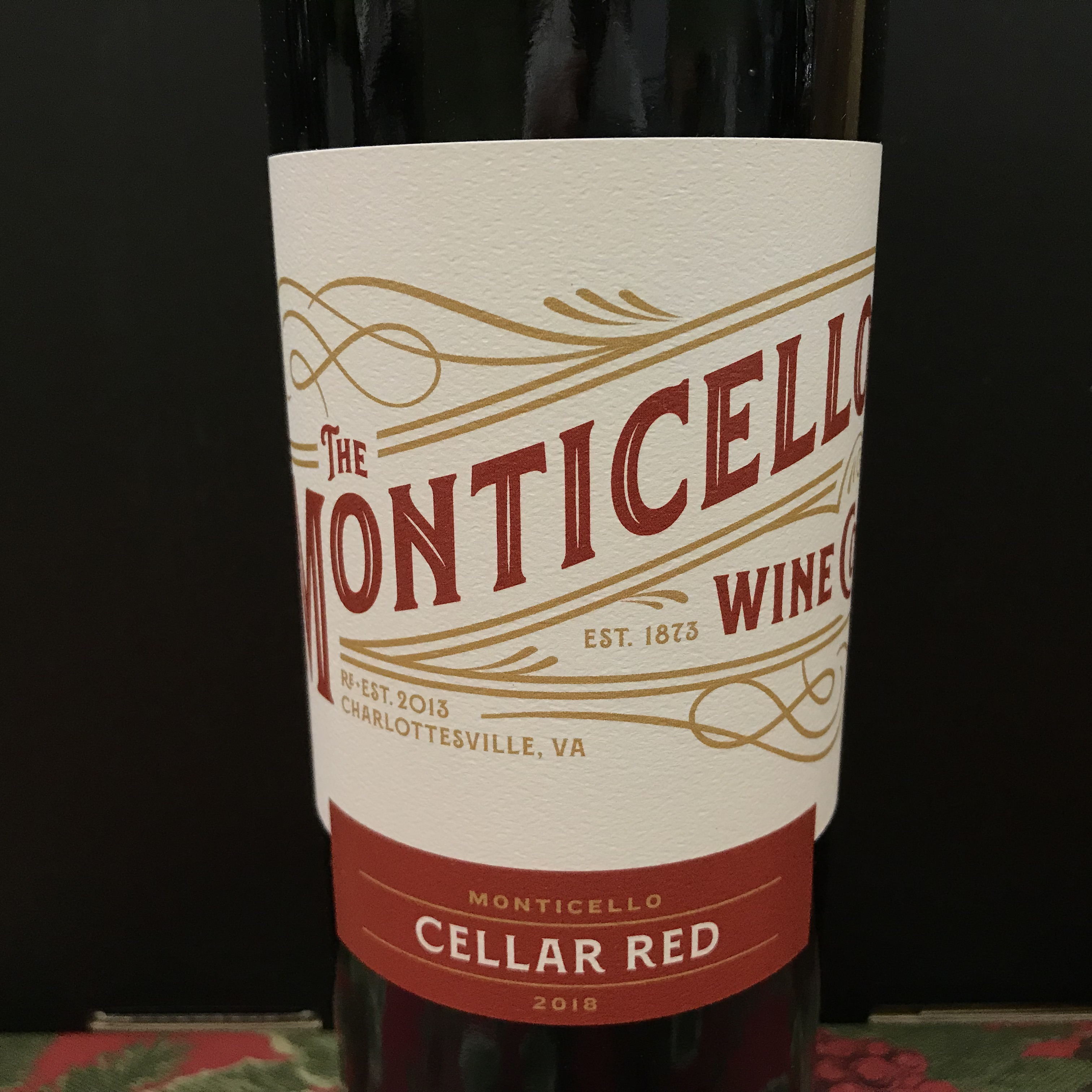 Monticello Wine Co .Cellar Red 2018
