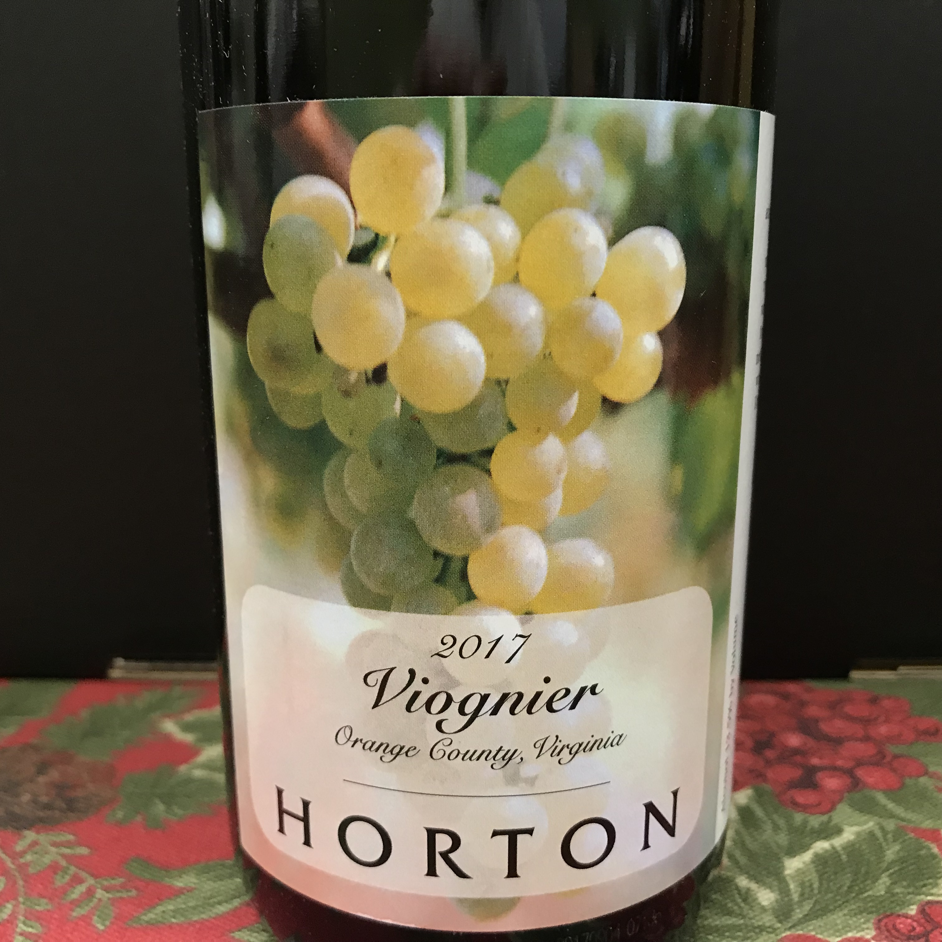 Horton Vineyards Viognier Orange County 2017