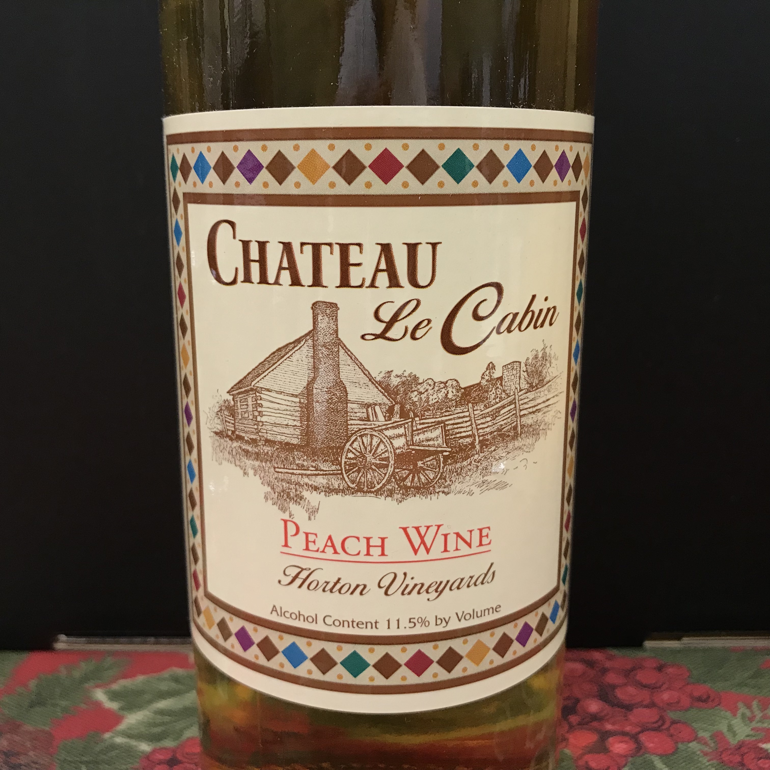 Horton Chateau Le Cabin Peach fruit wine