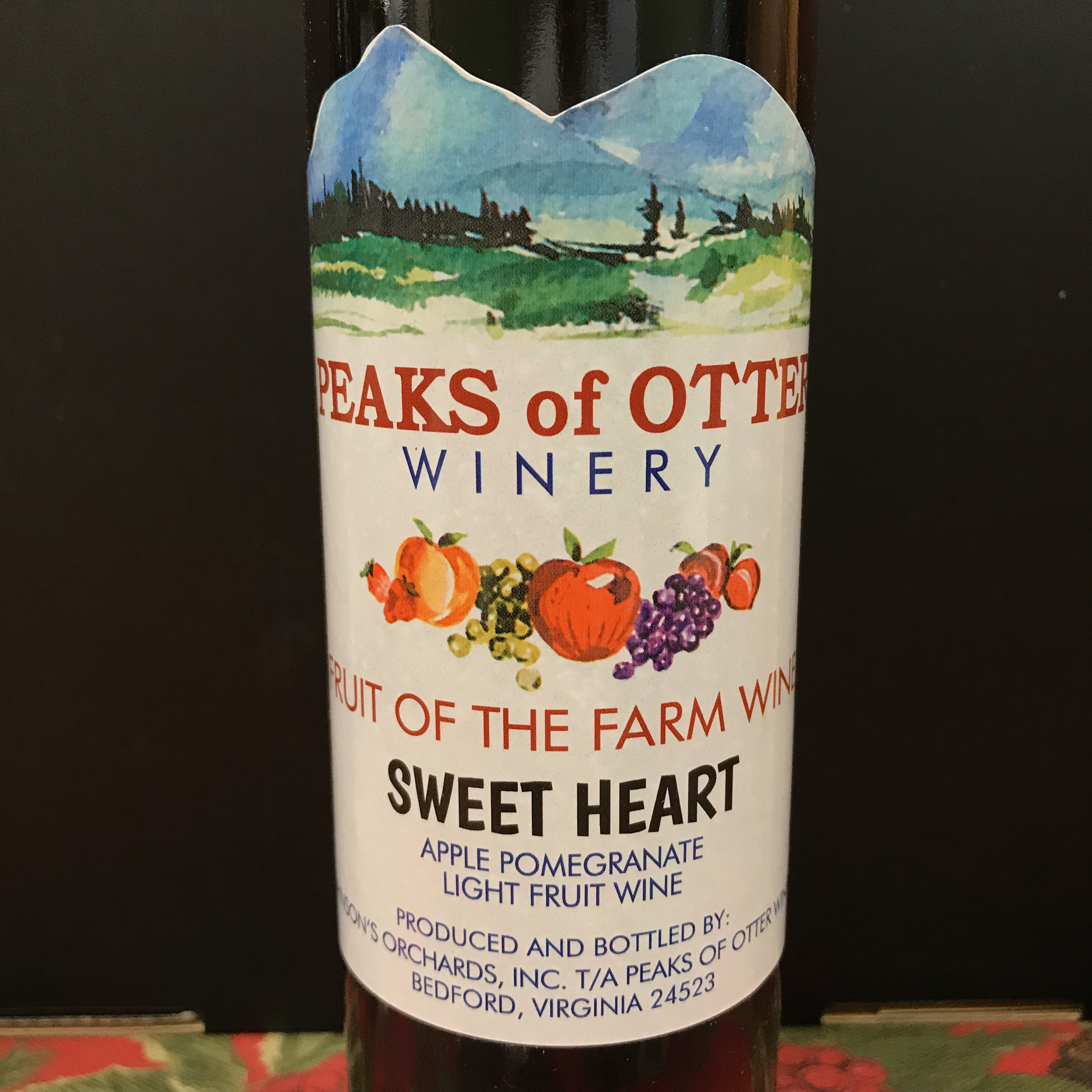 Peaks of Otter Fruit of the Farm Apple Pommegranate wine