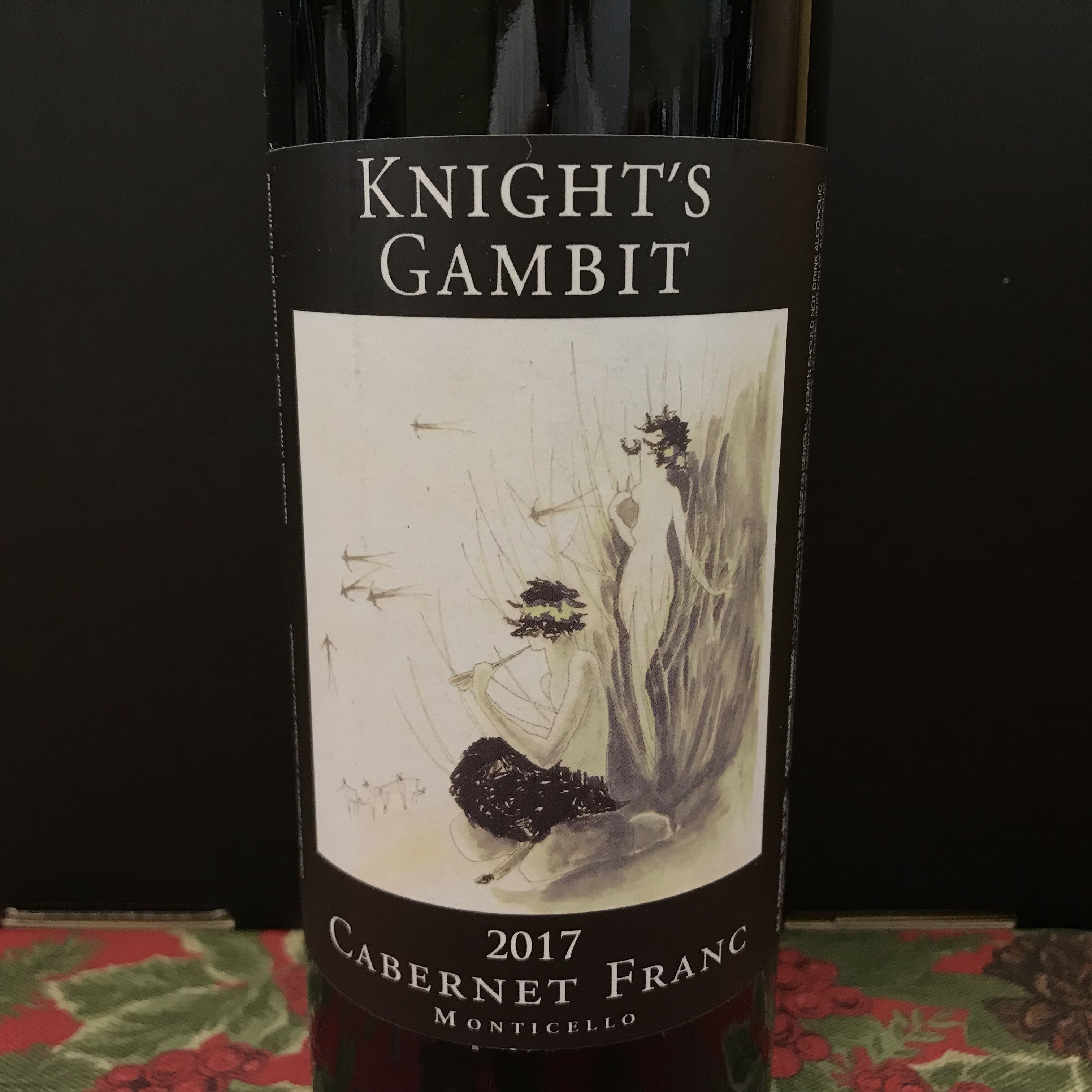 Knight's Gambit Cabernet Franc Monticello 2017