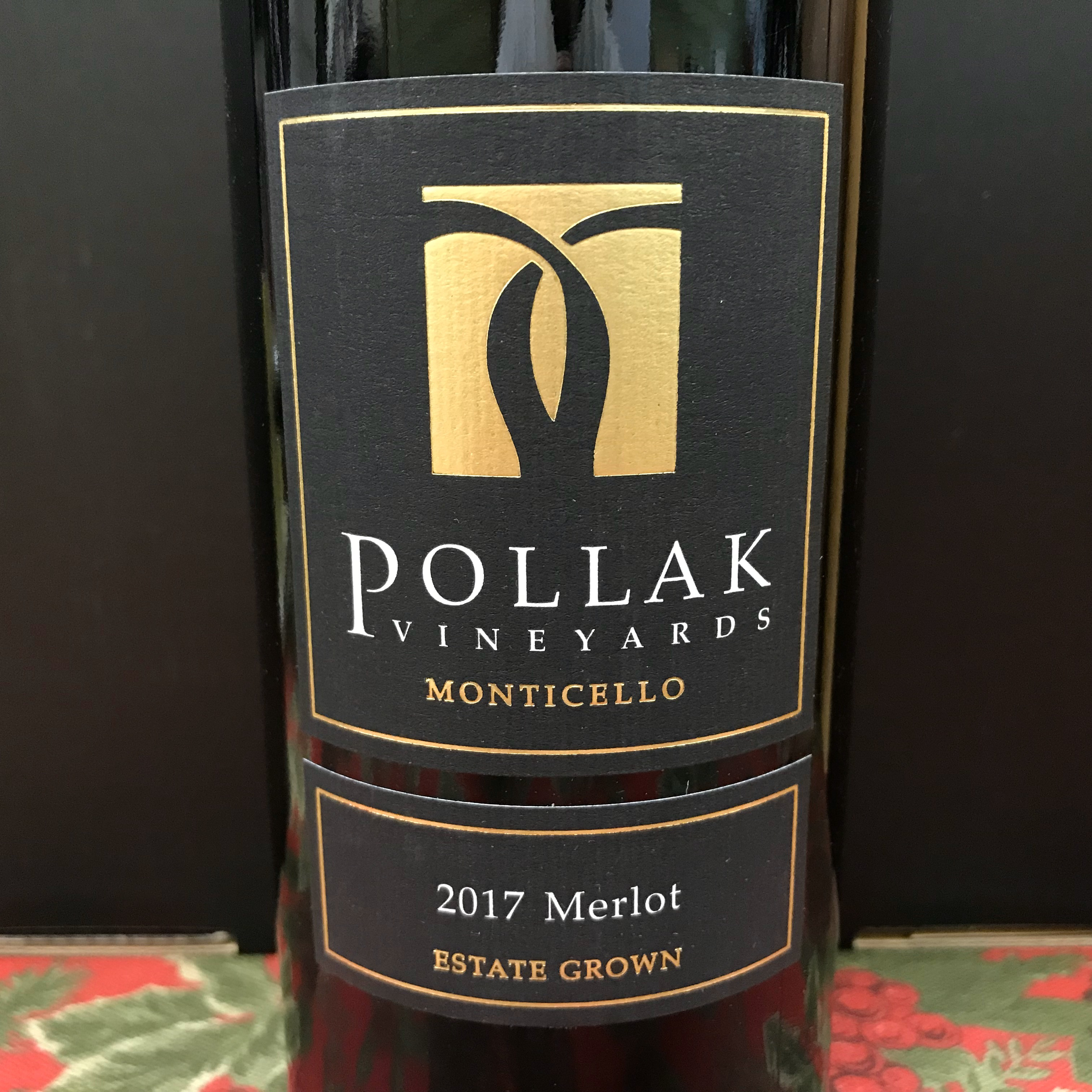 Pollak Vineyards Merlot Monticello Estate 2017