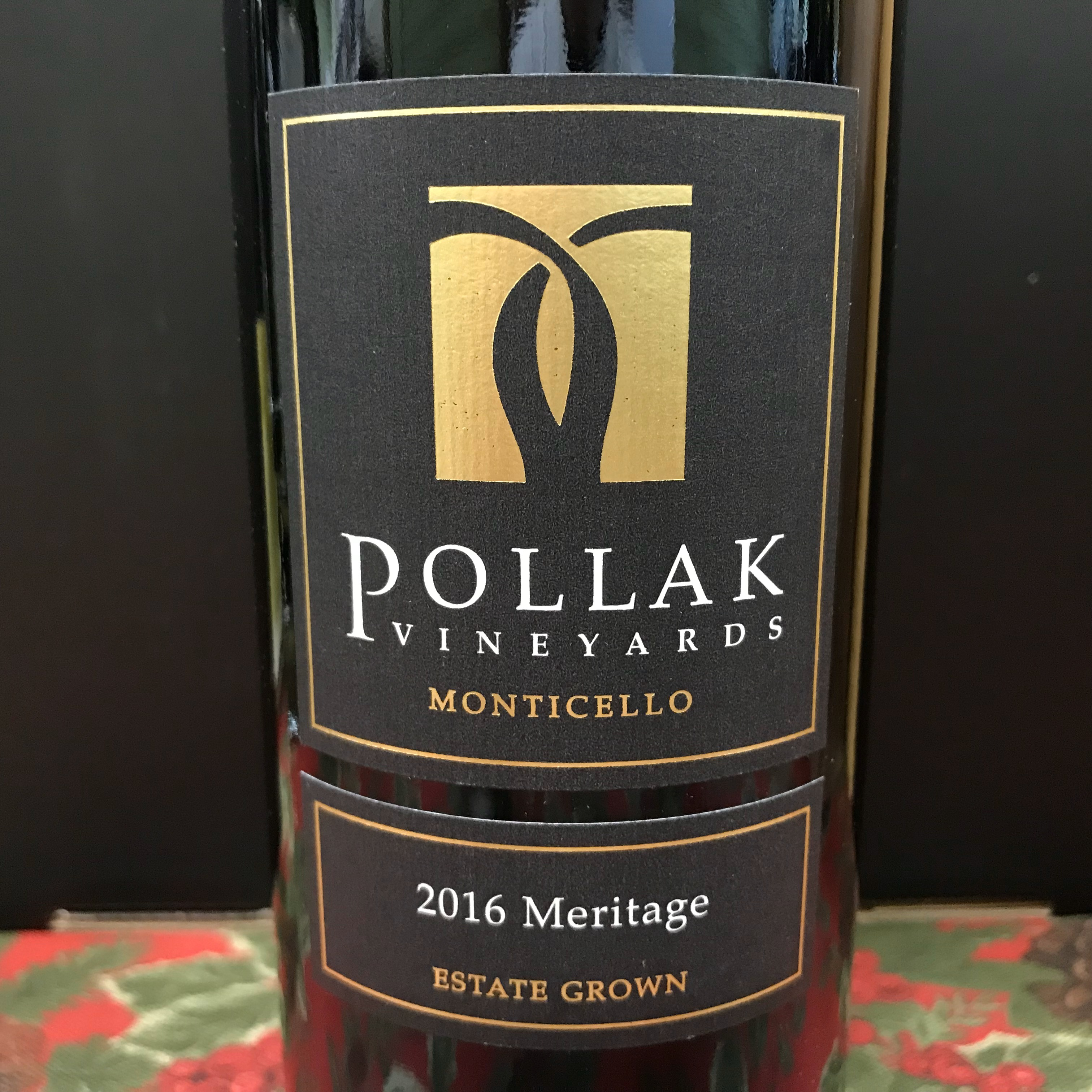 Pollak Vineyards Meritage Monticello Estate 2016