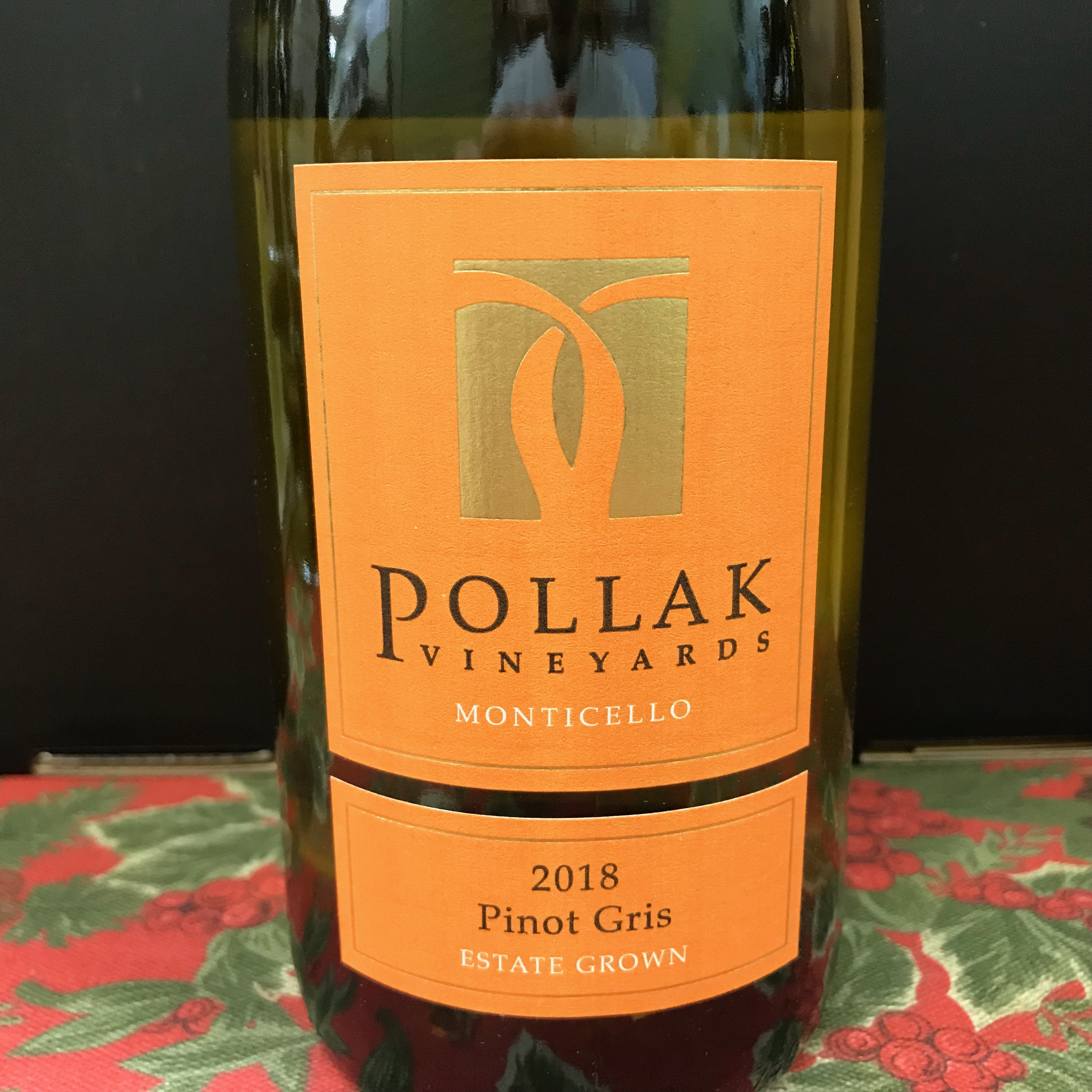 Pollak Vineyards Pinot Gris Monticello Estate 2018
