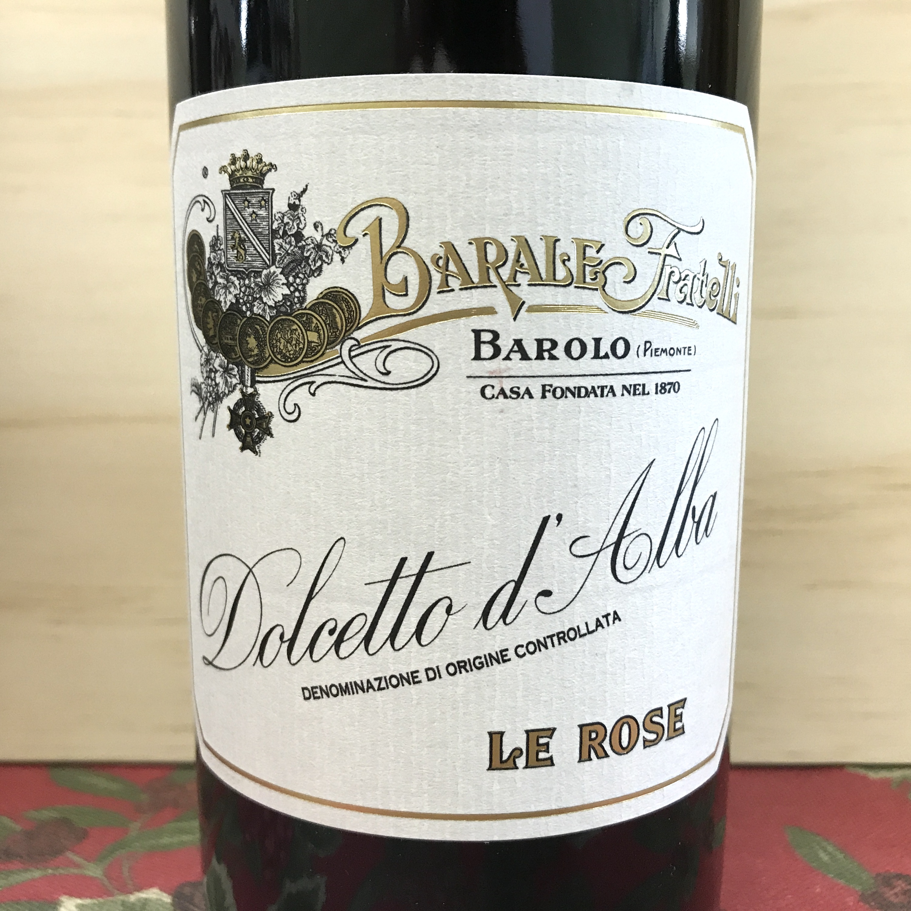 Barale Fratelli Dolcetto d'Alba Le Rose 2019 Organic