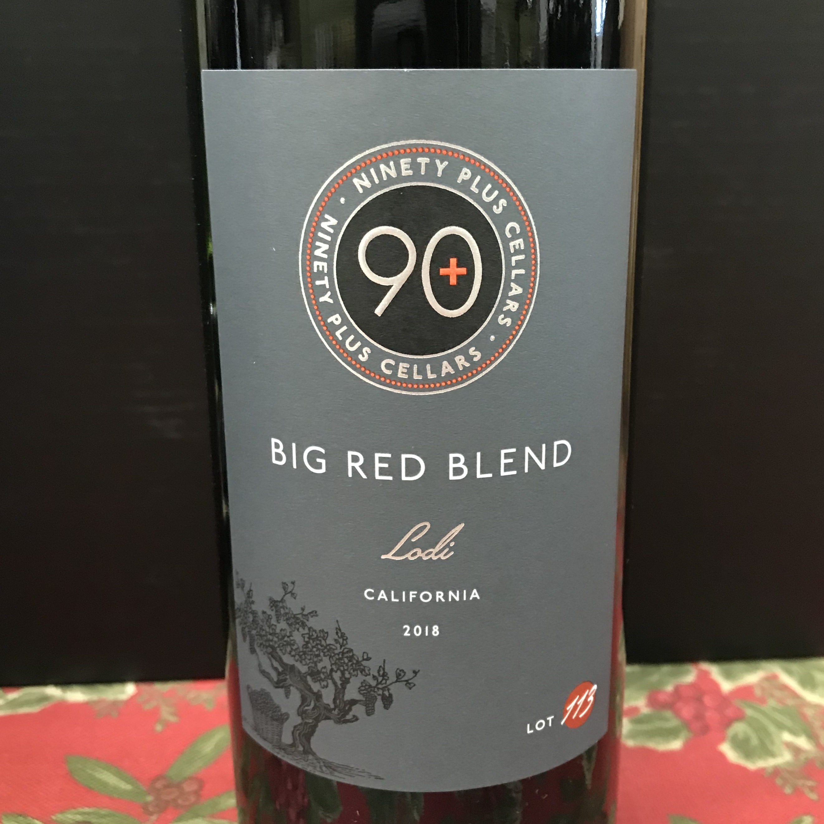 90+ Cellars Big Red Blend Lodi 2018