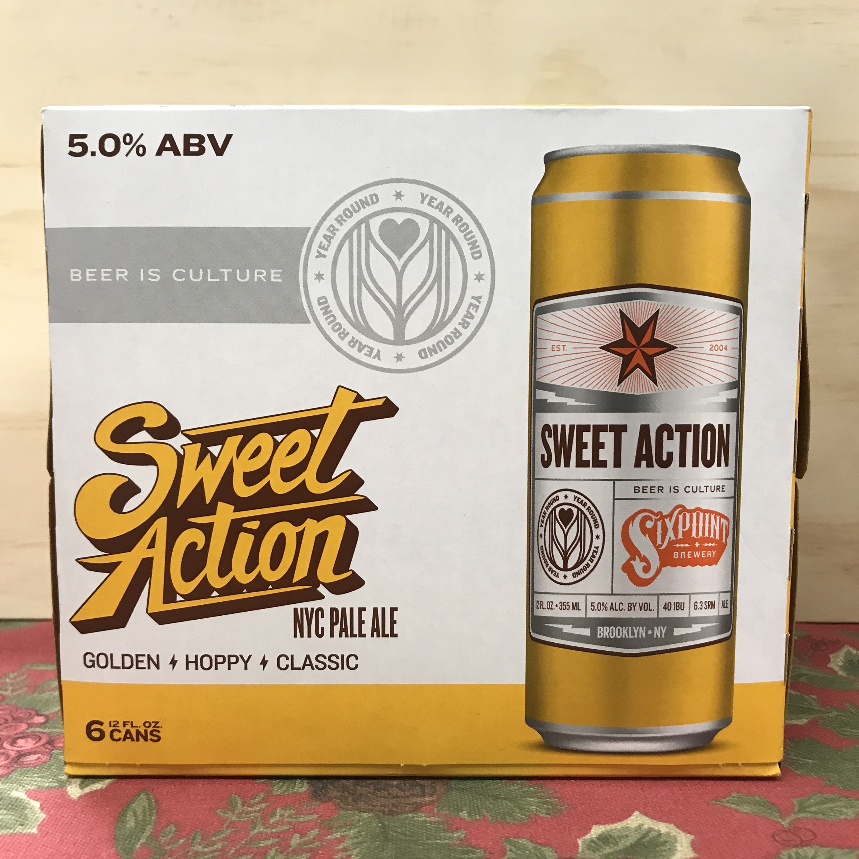 Sixpoint Sweet Action NYC Pale Ale 6 x 12 oz cans