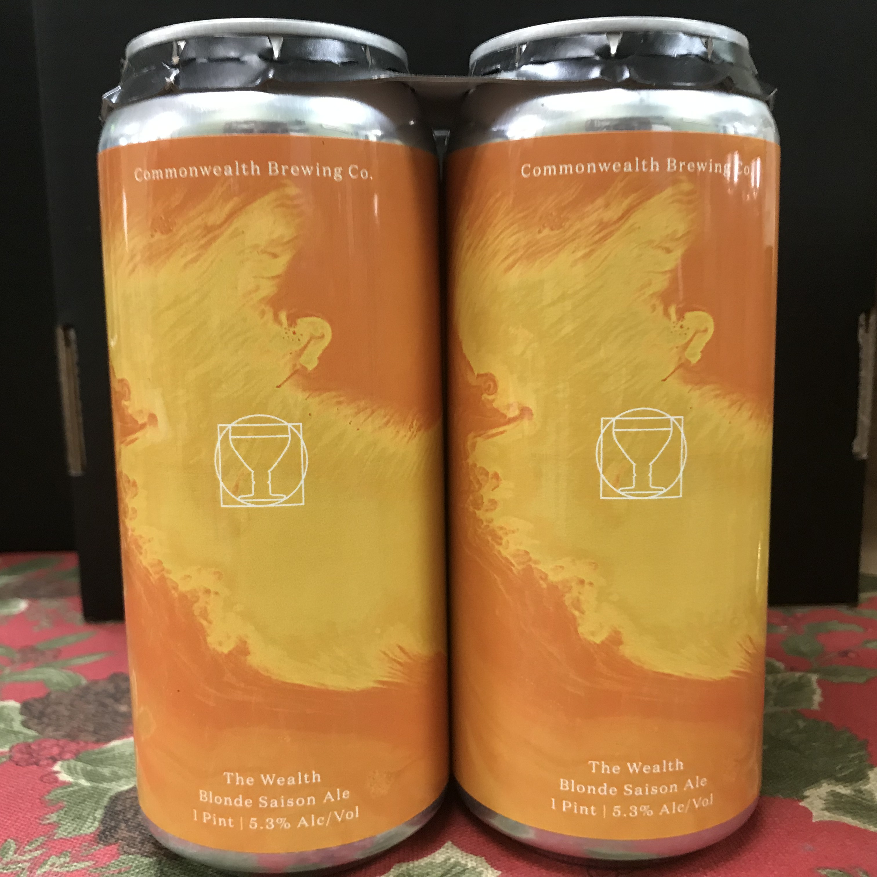 Commonweath Brewing The Wealth Blonde Saison Ale 4 x 1 pint cans