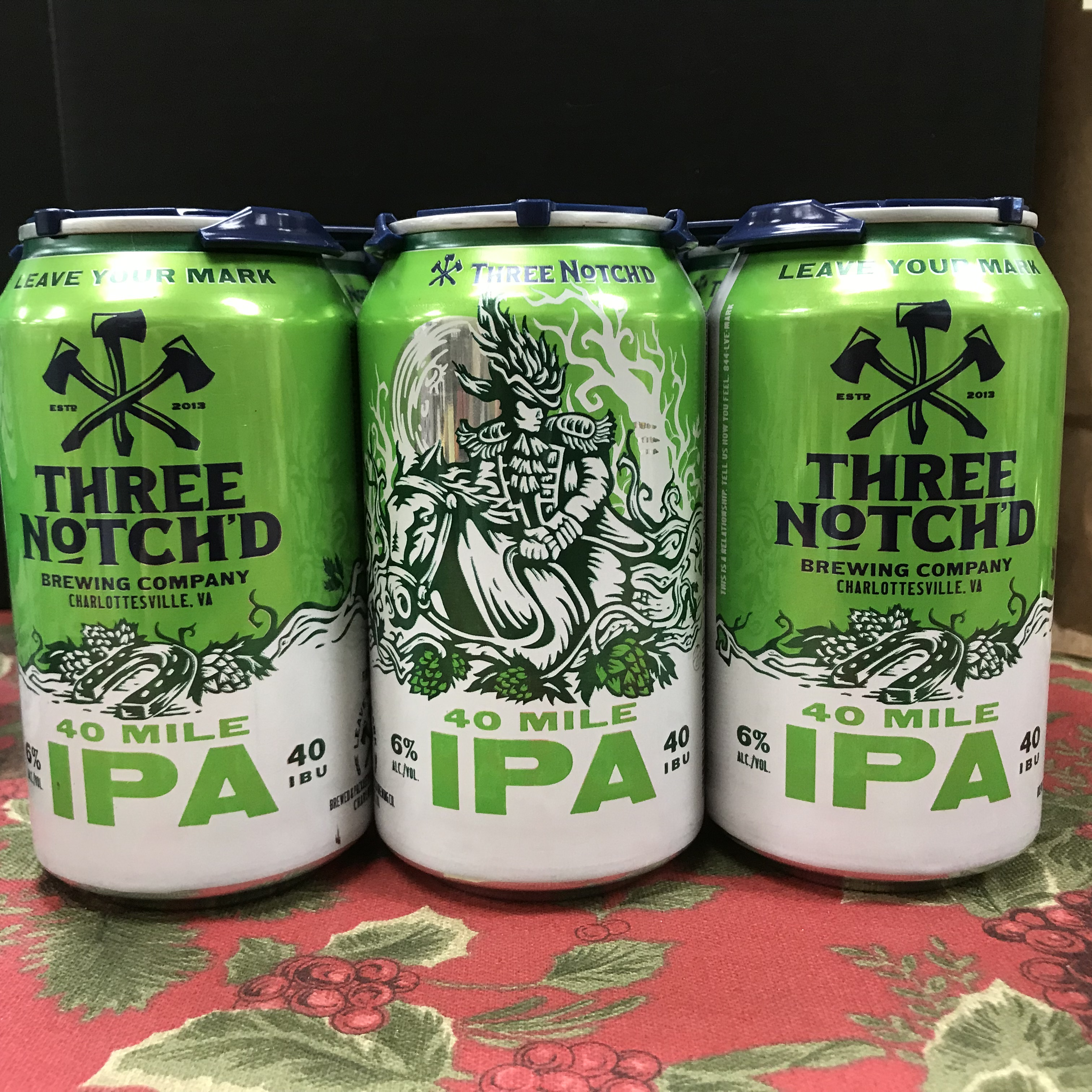 Three Notch'd 40 Mile IPA 6 x 12oz cans