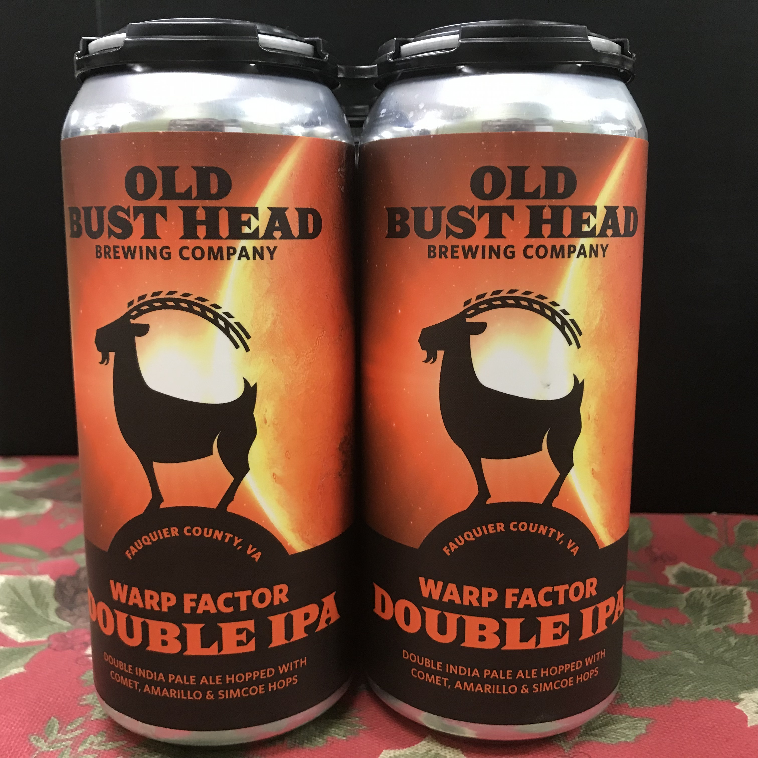 Old Bust Head Warp Factor Double IPA 4 x 1 pint cans