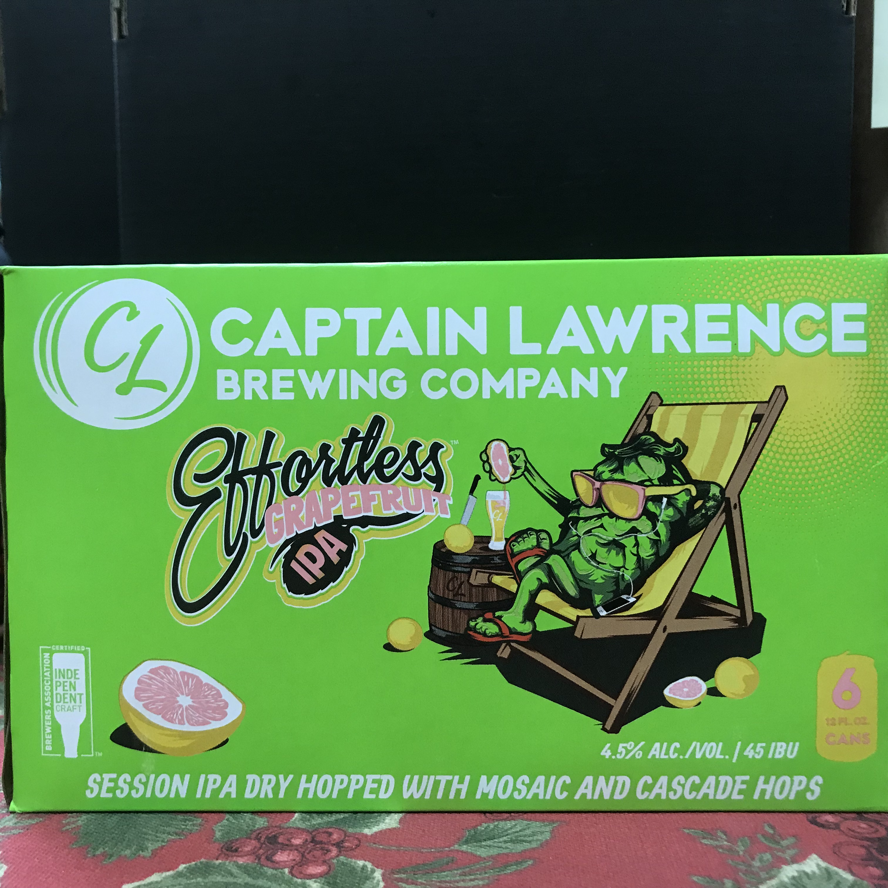 Captain Lawrence Effortless Grapefruit IPA 6 x 12 cans