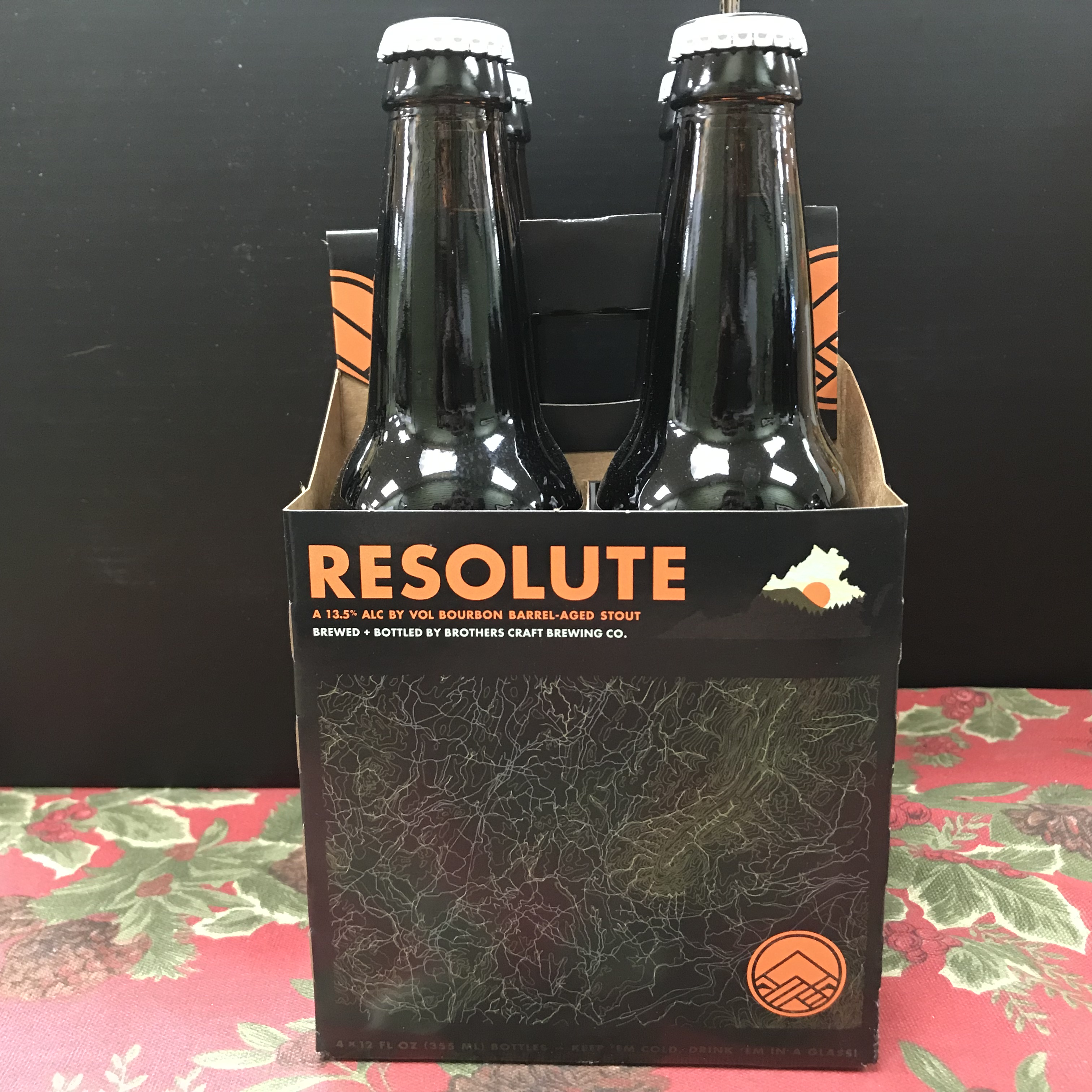Brothers Resolute Bouron Barrel Aged Stout 4 x 12oz bottles