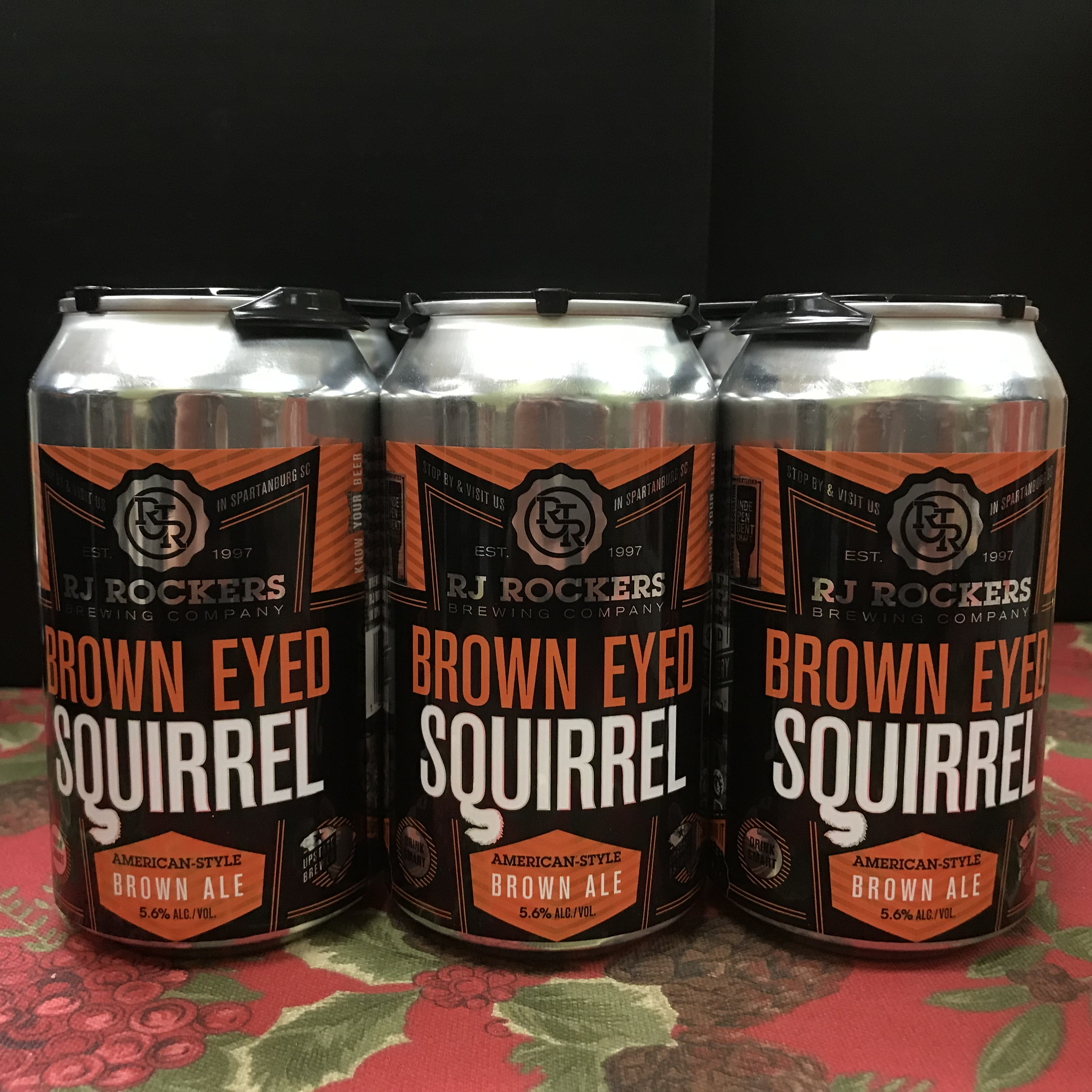 RJ Rockers Brown Eyed Squirrel Brown Ale 6pk/12oz cans