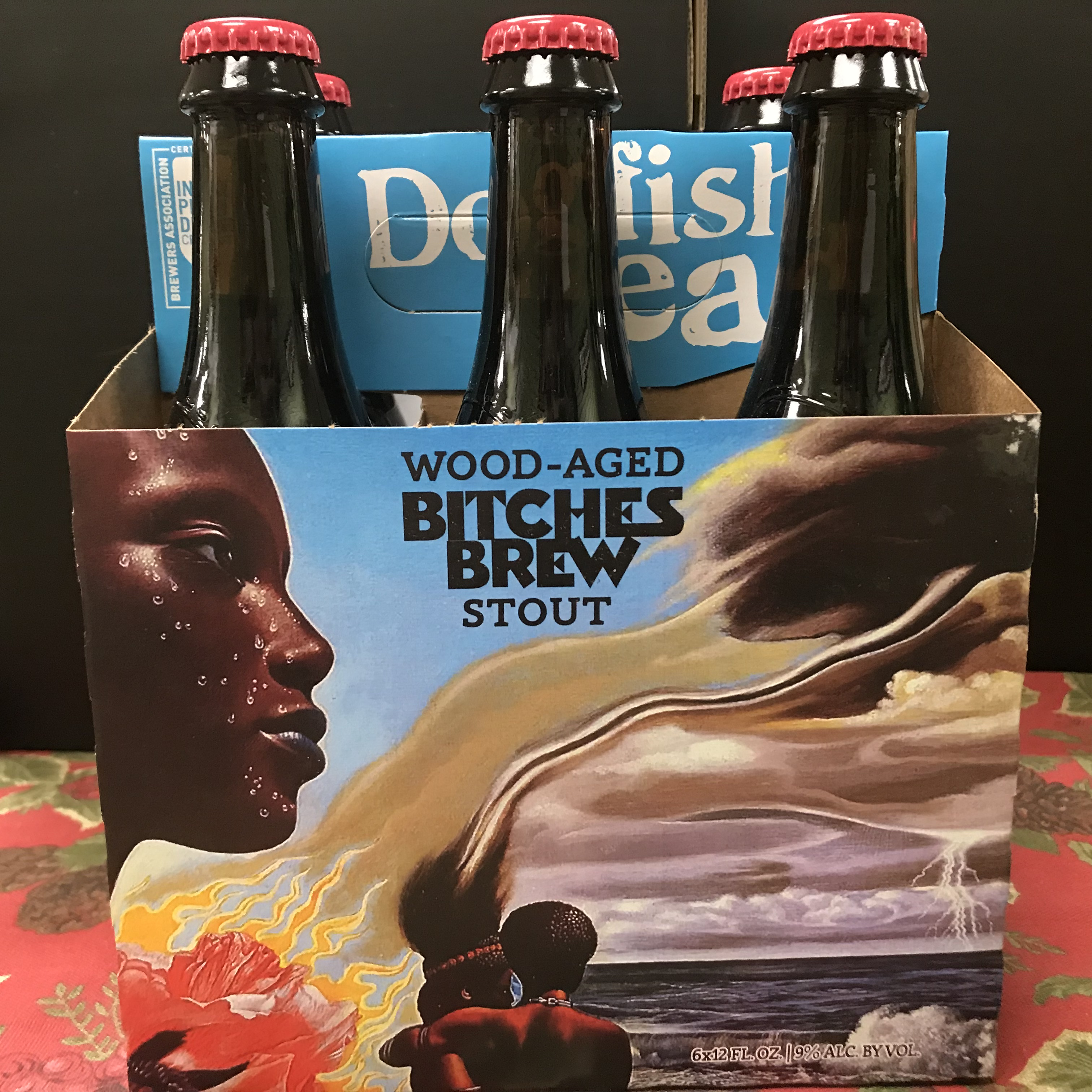 Dogfish Head Bitches Brew Wood Aged Stout 6 x 12oz bottles