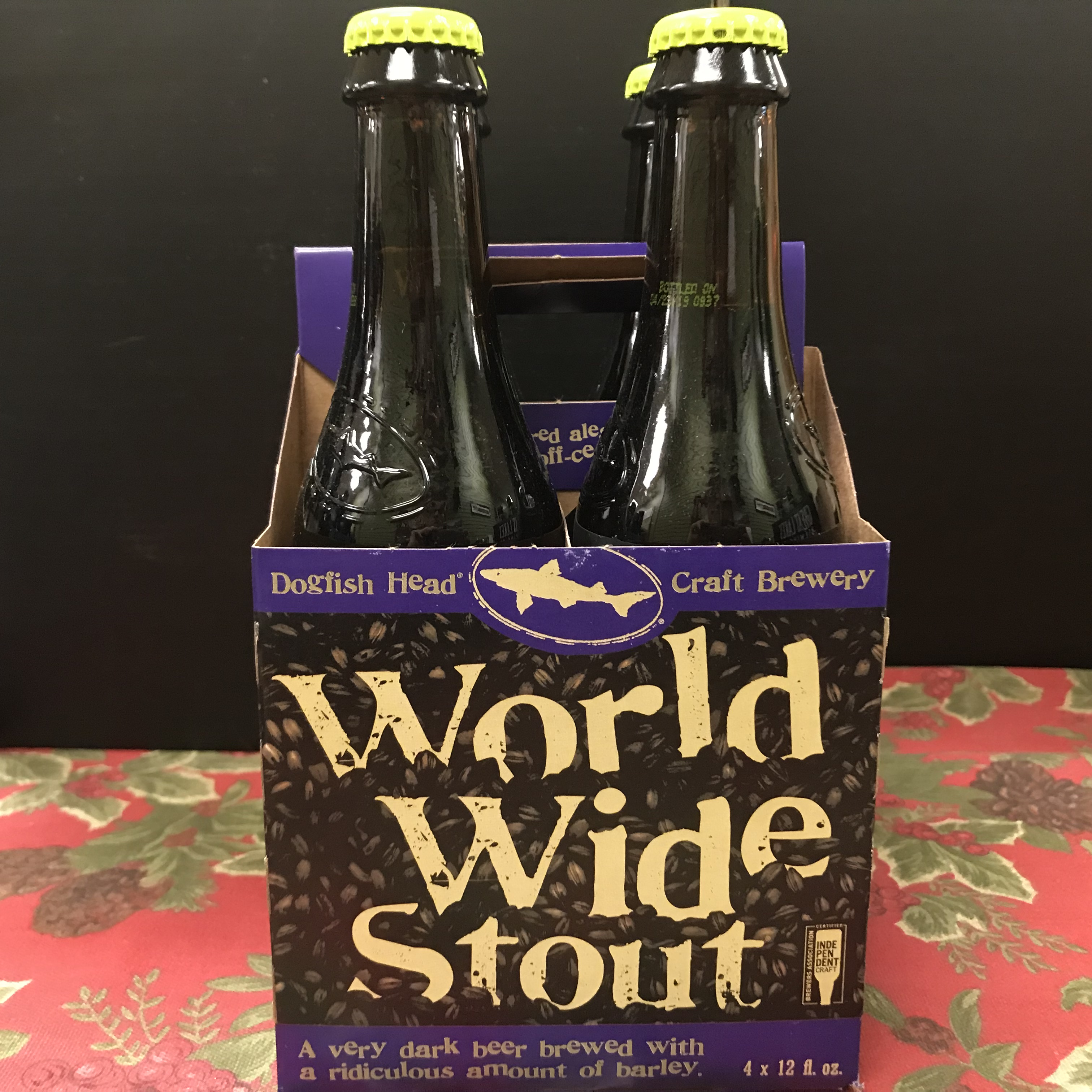 Dogfish Head World Wide Stout 4 x 12oz bottles