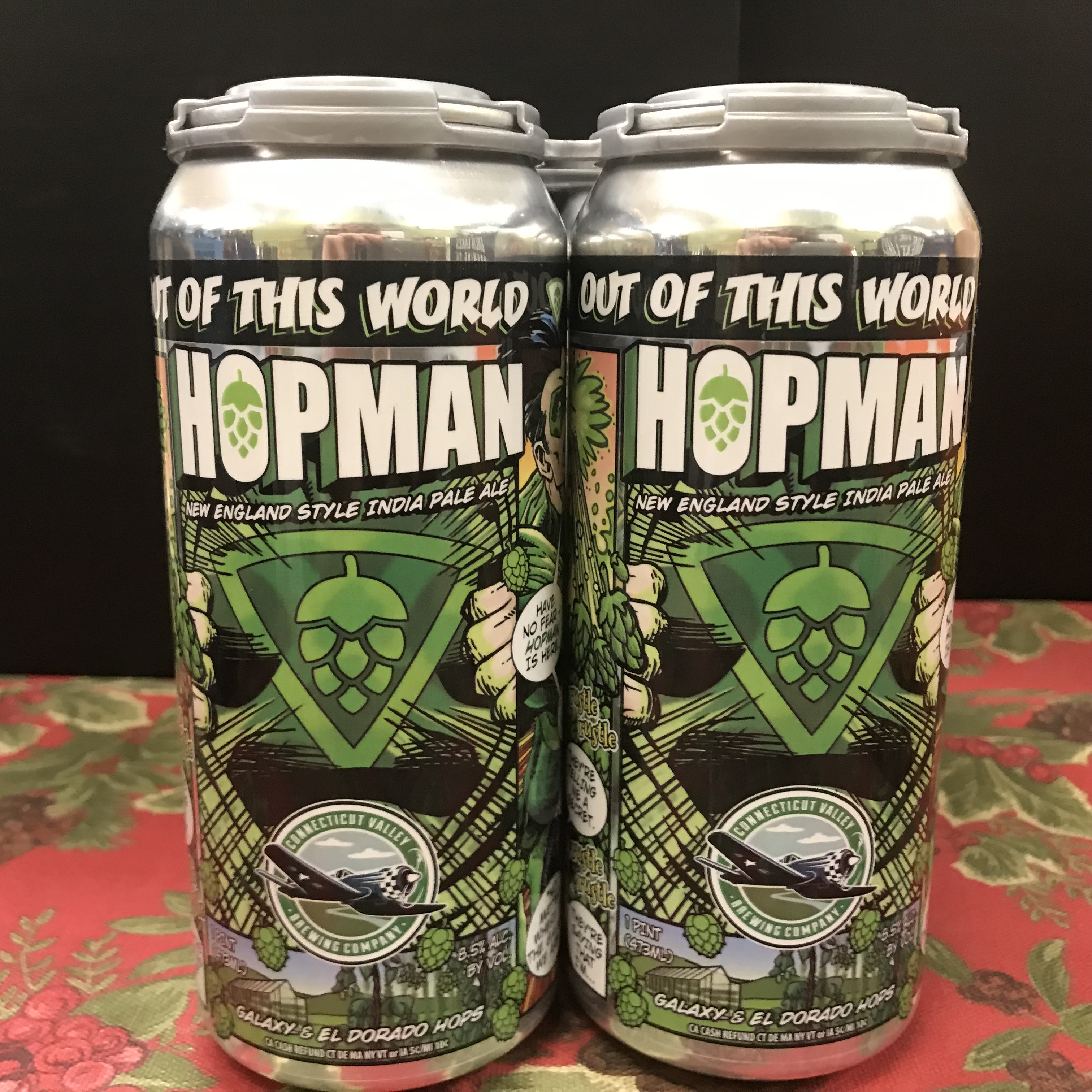 Connecticut V. Brewing Out of this World Hopman IPA 4 x 1 pint