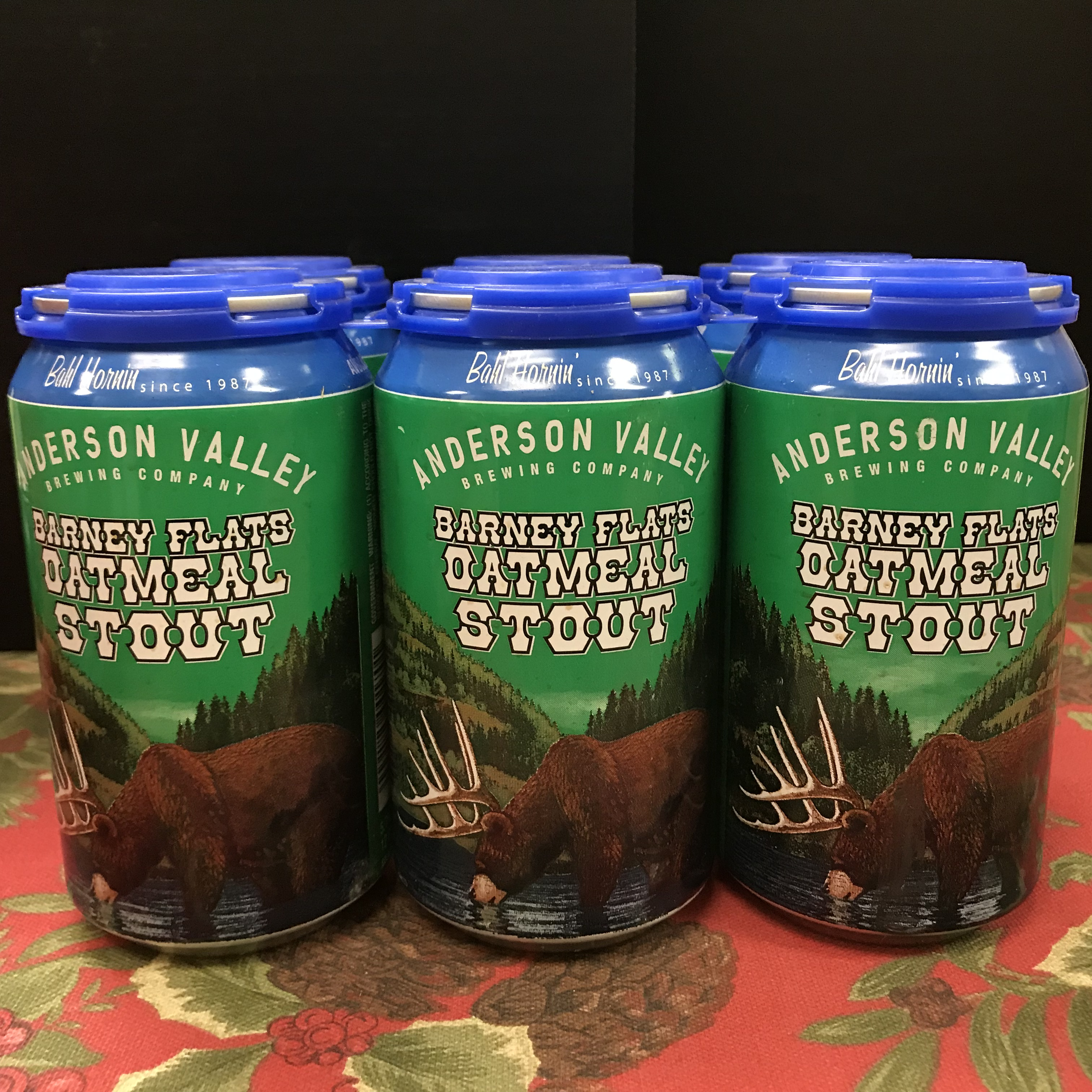 Anderson Valley Barney Flats Oatmeal Stout 6 x 12oz cans