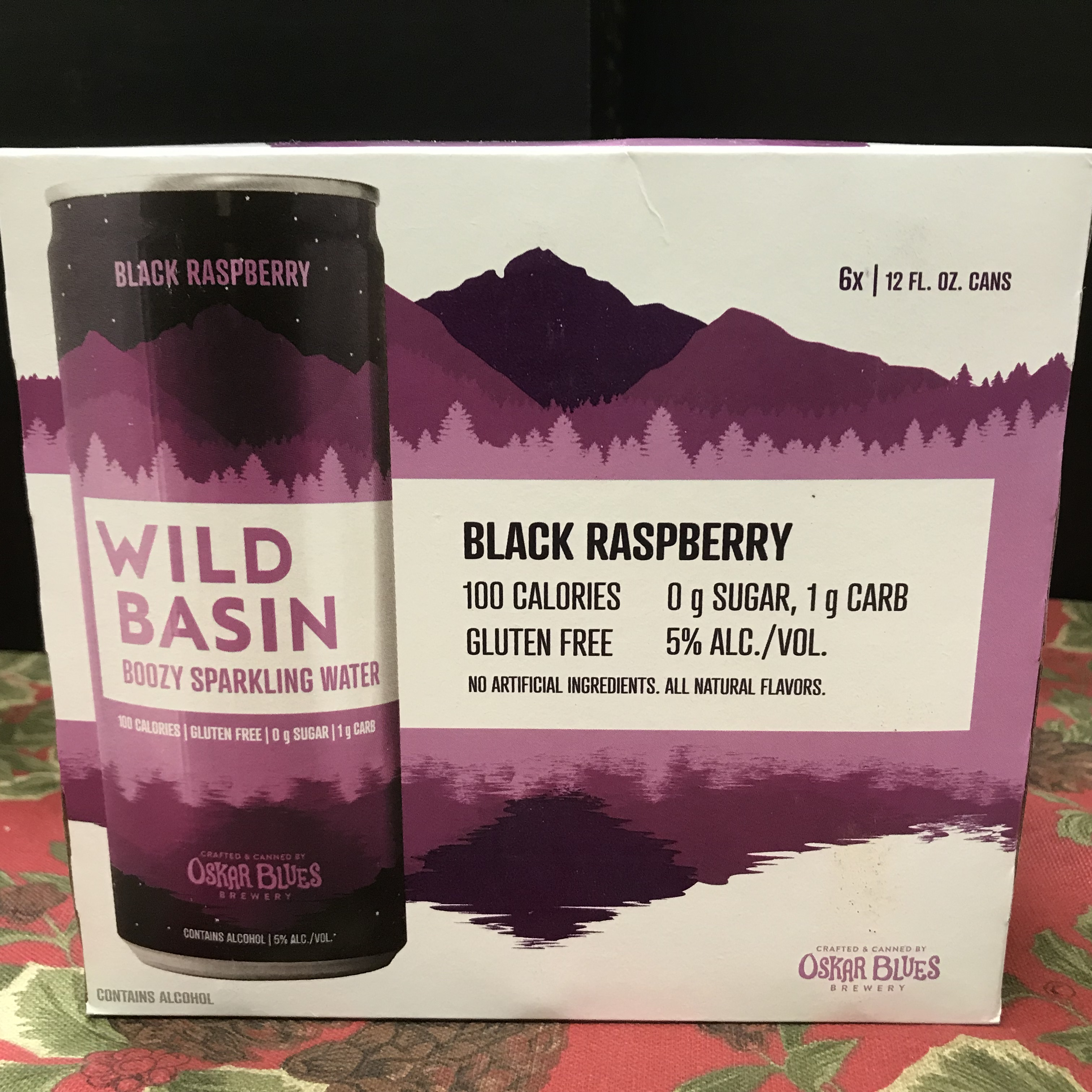 Oskar Blues Wild Basin Black Raspberry sparkling water 6 x 12 5%
