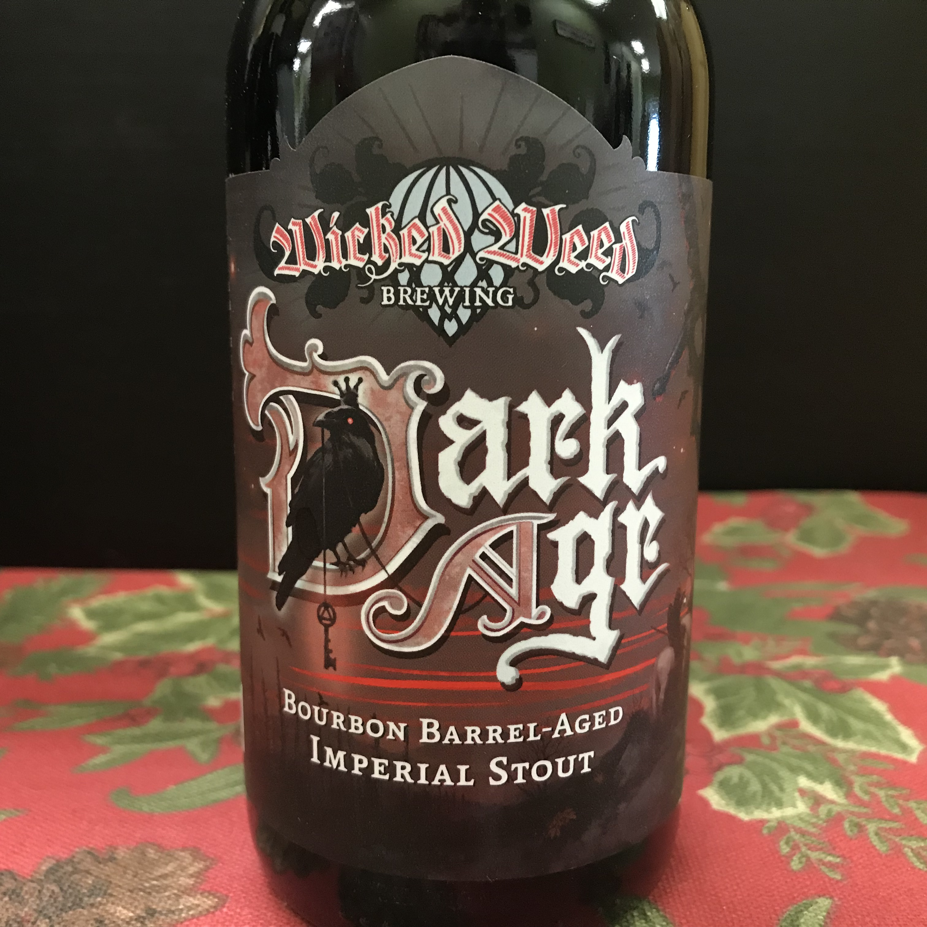 Wicked Weed Dark Age Bourbon Barrel Imperial Stout single 12oz