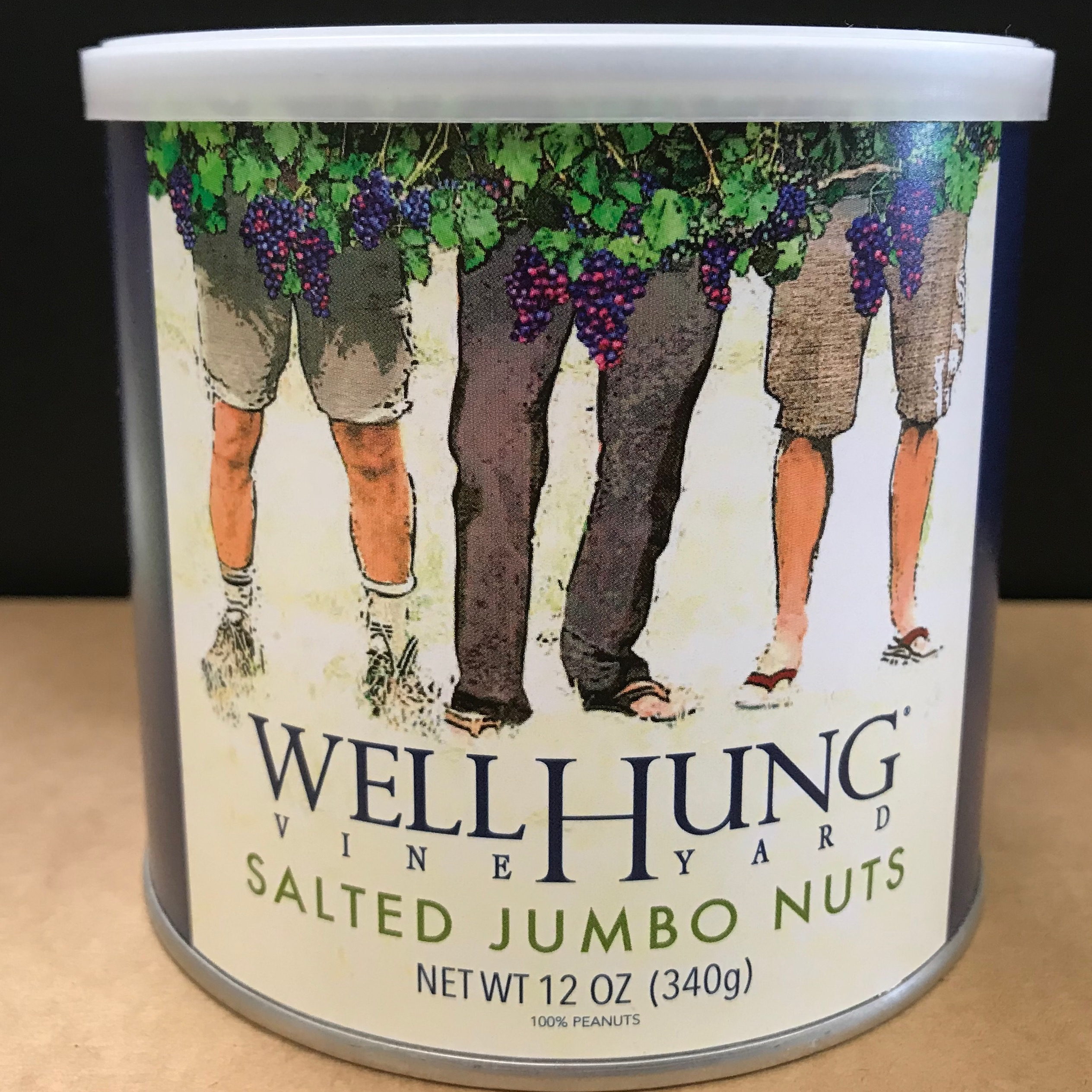 Well Hung Salted Jumbo Peanuts 12 oz