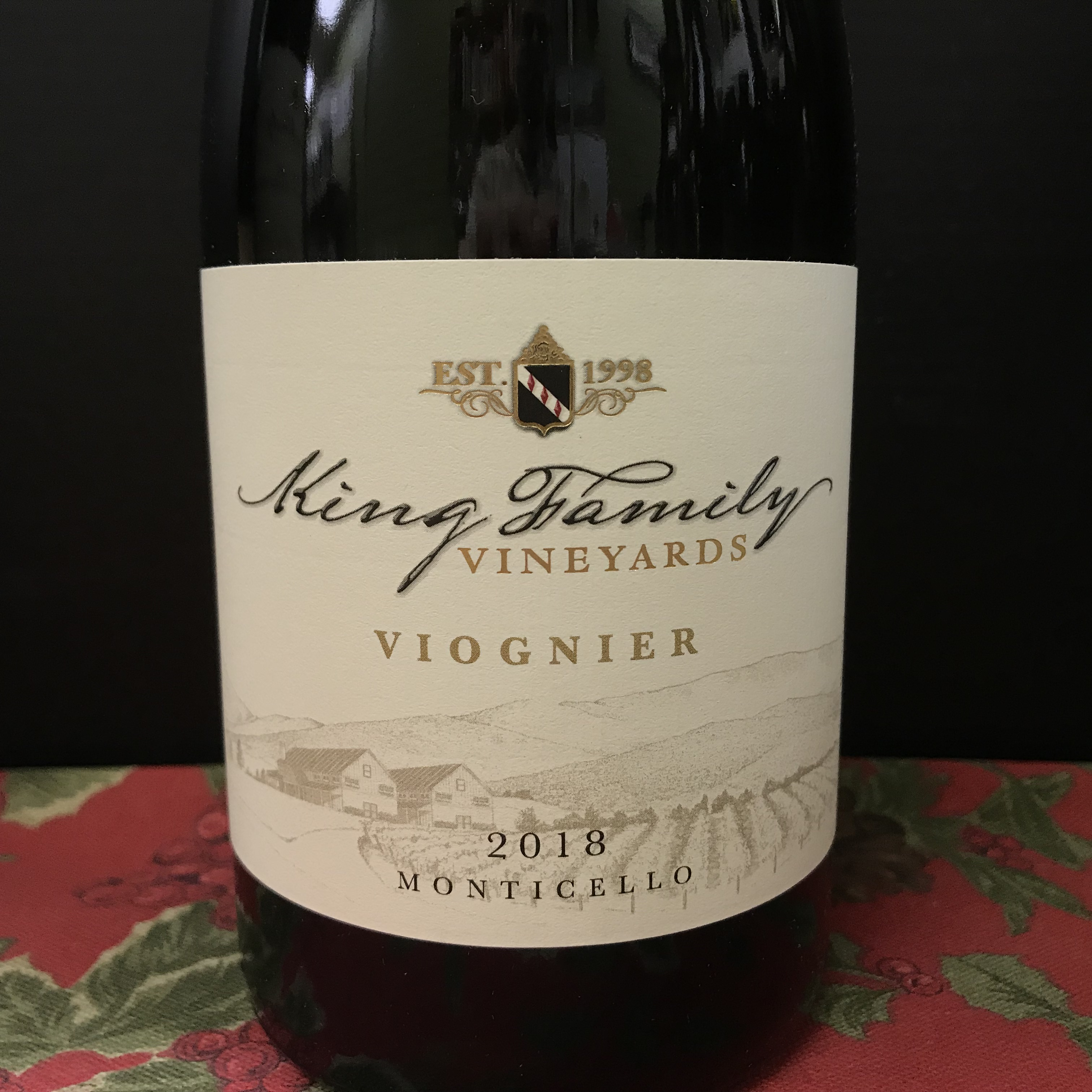 King Family Viognier Monticello 2018