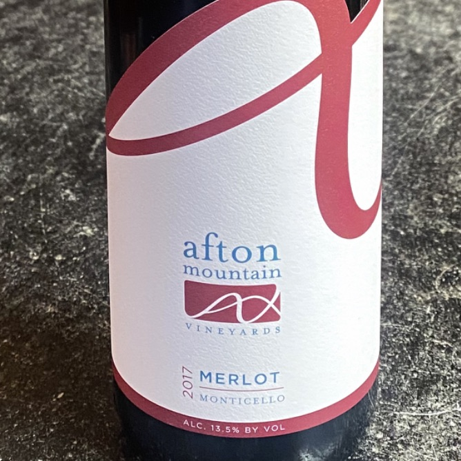 Afton Mountain Monticello Estate Merlot 2017