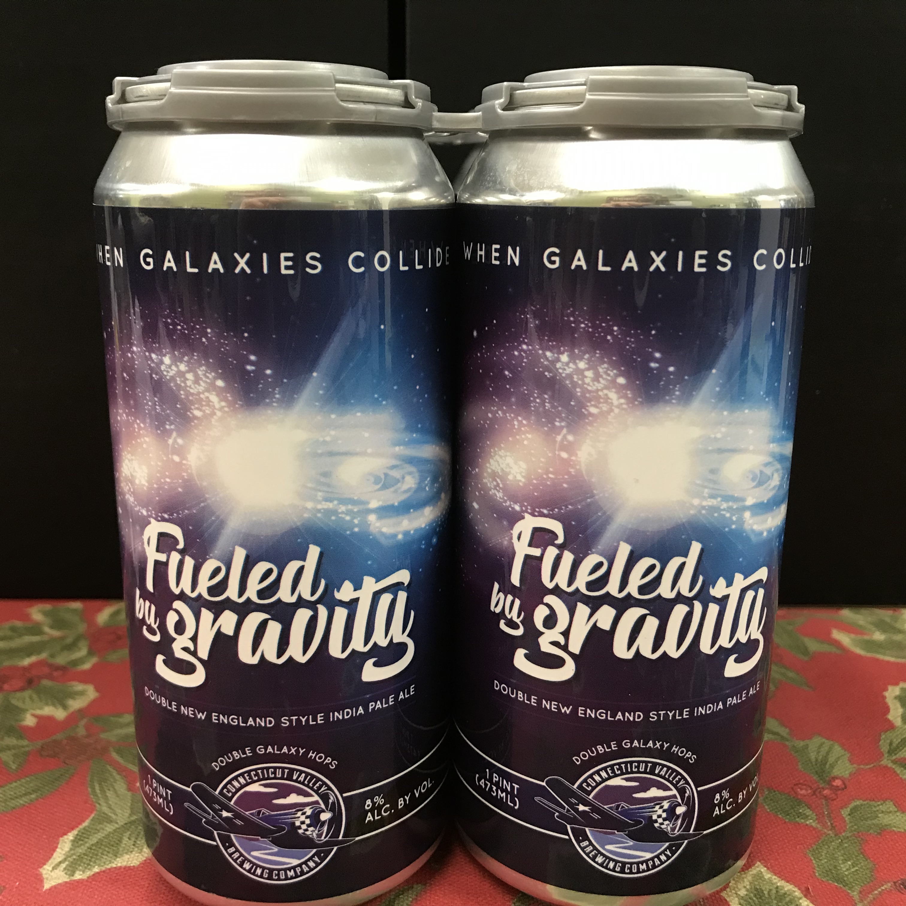 CT Valley Brewing Fueled by Gravity Double New Eng. IPA 4 x 1p.