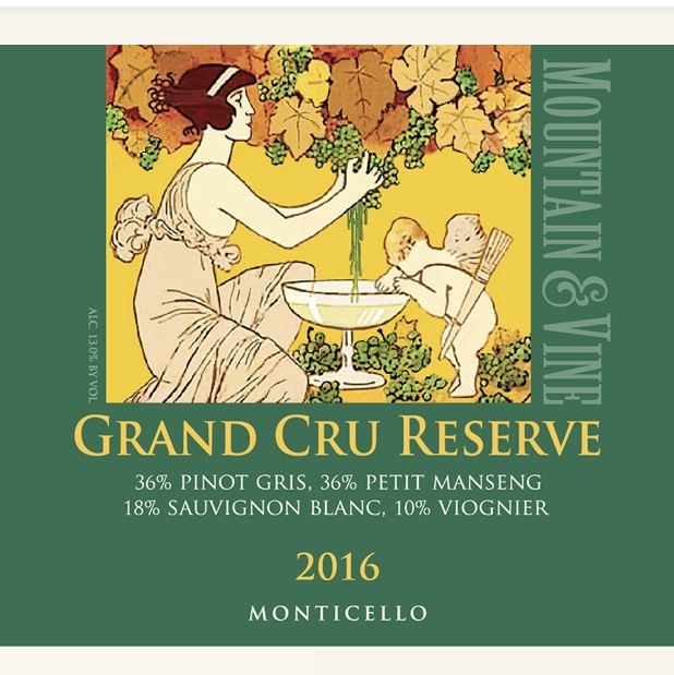 Delfosse Mountain & Vine Grand Cru Reserve Monticello 2016