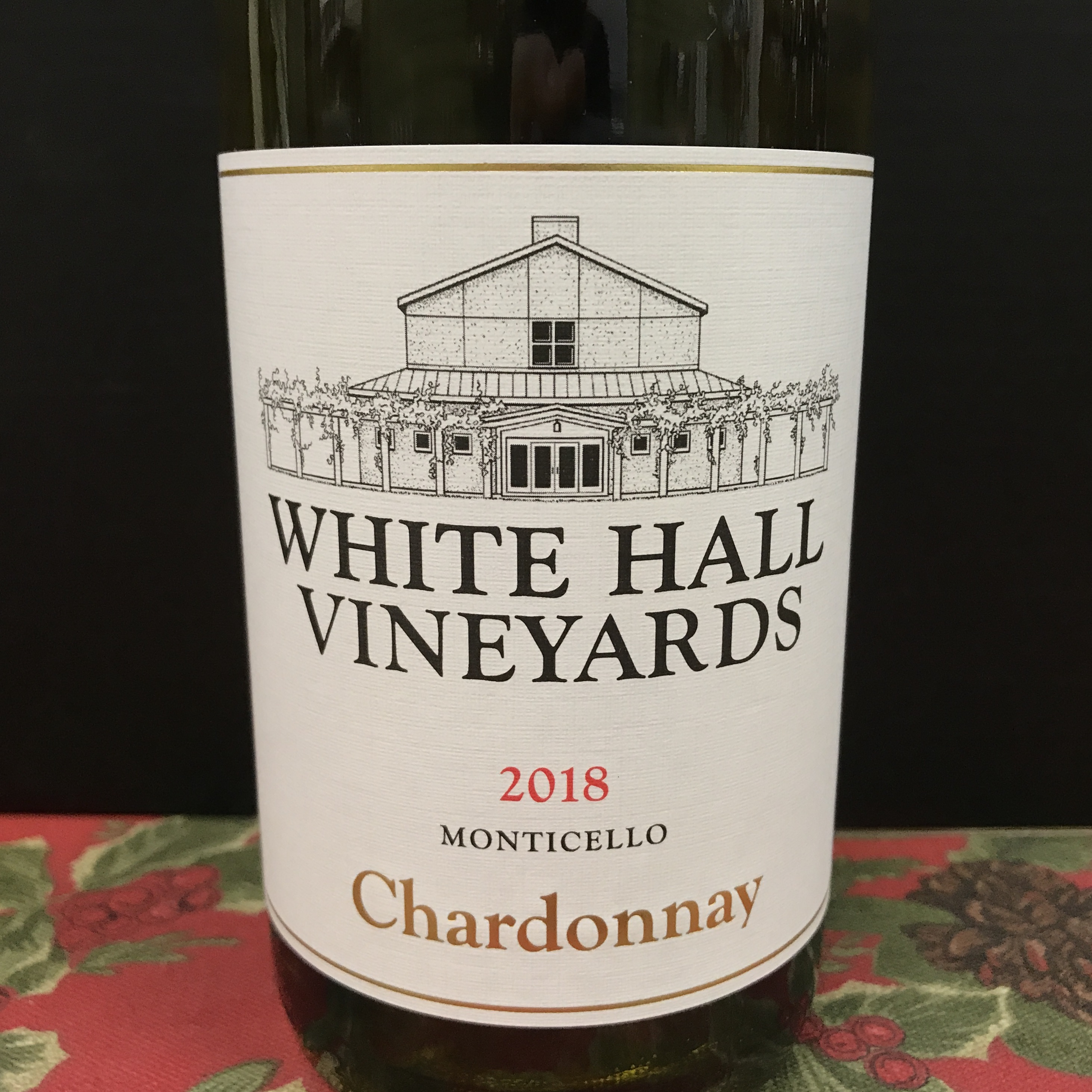 White Hall Vineyards Chardonnay Monticello 2018