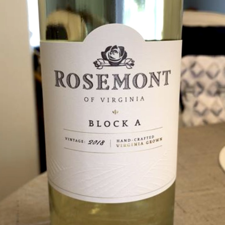 "Rosemont Winery VA White Wine 'Block A"" 2019"