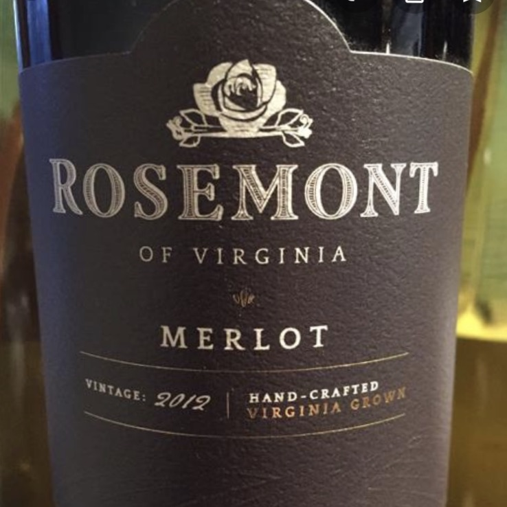 Rosemont Winery Virginia Merlot 2017
