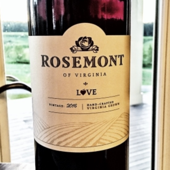 Rosemont Winery Virginia Red 'Love' 2016
