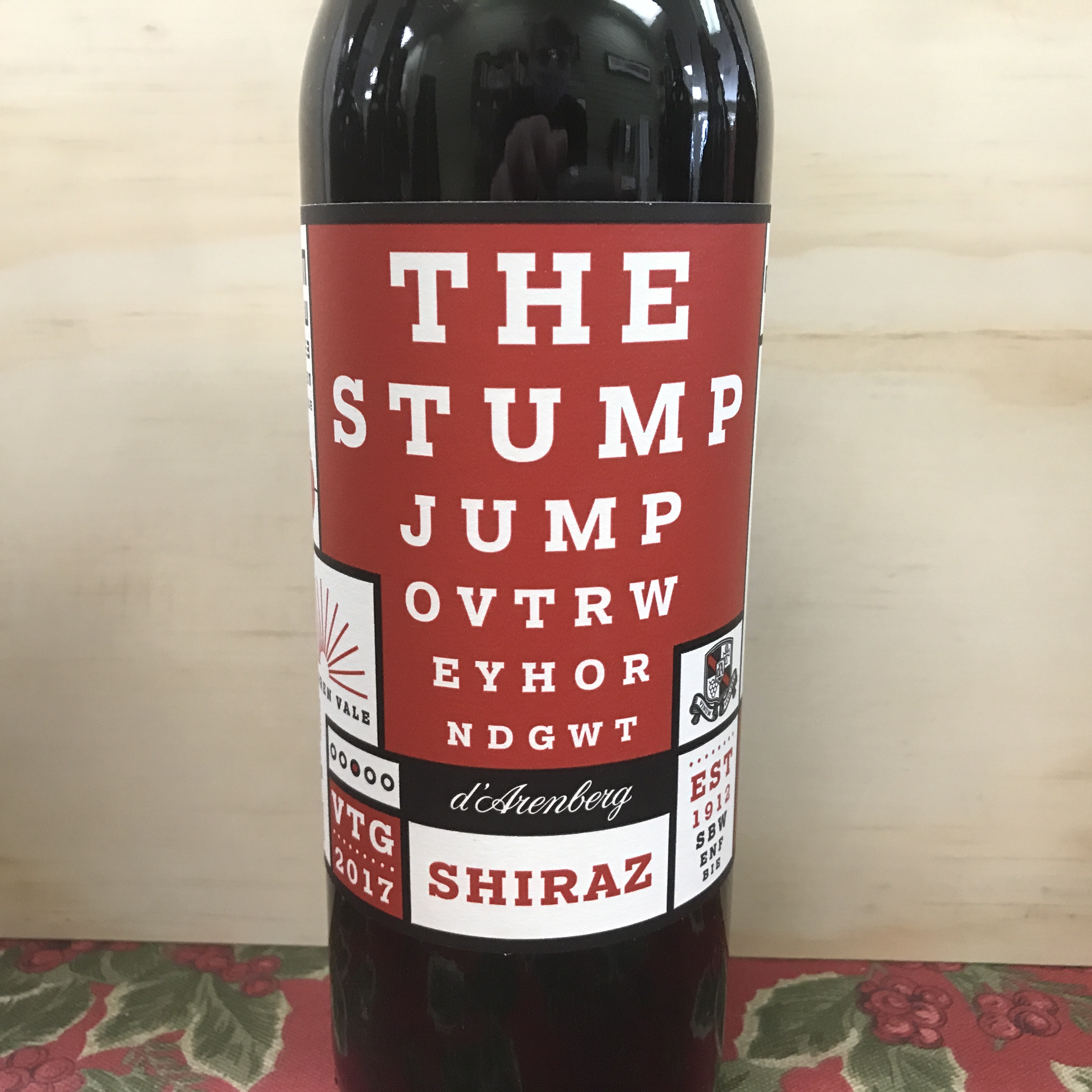 D'Arenberg The Stump Jump Shiraz 2017