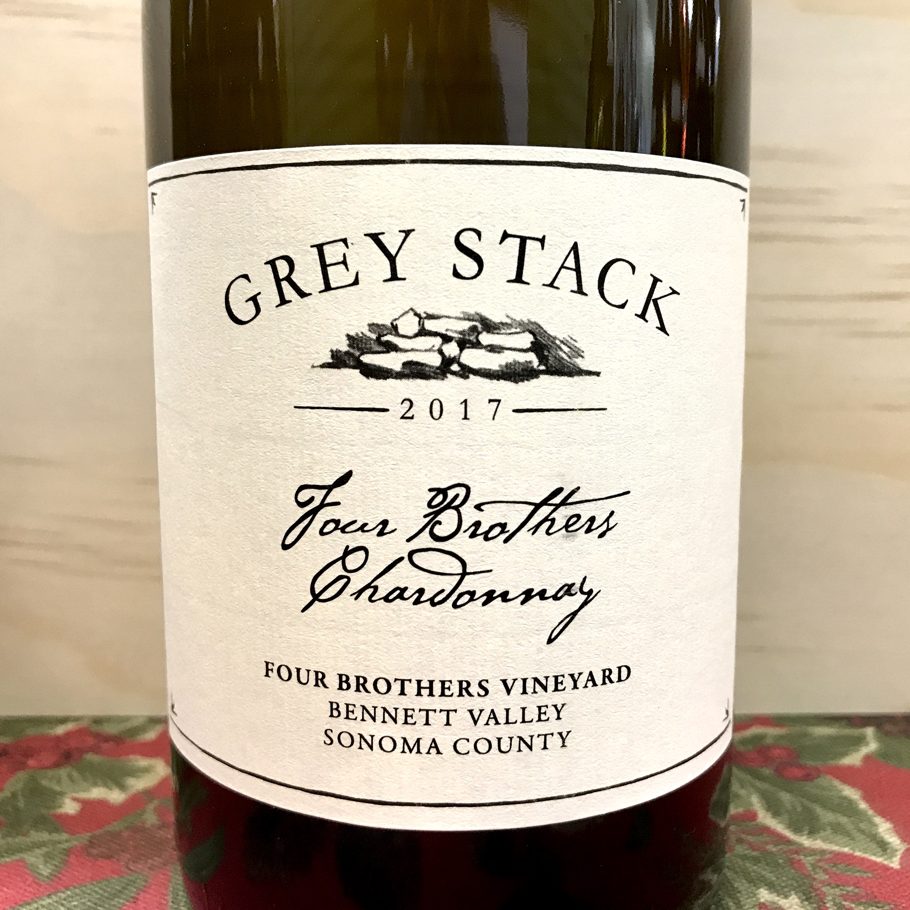Grey Stack Four Brothers Chardonnay Bennet Valley 2017