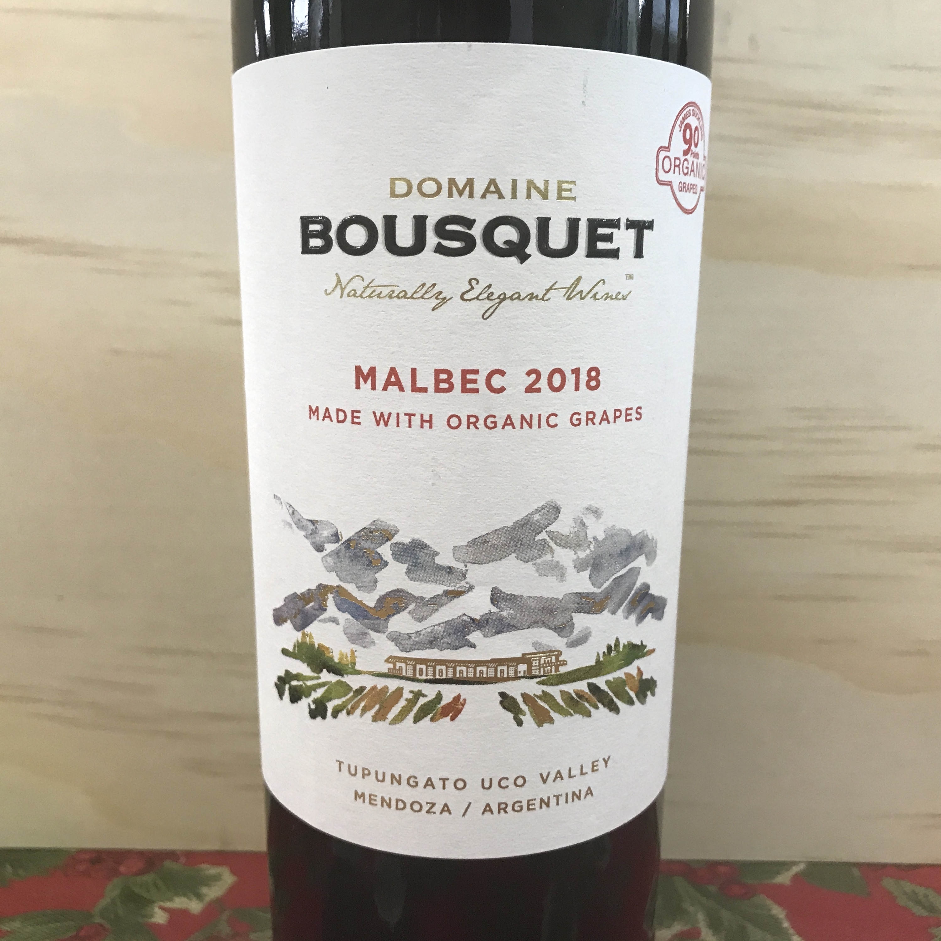 Domaine Bousquet Malbec Organic grapes Uco Valley 2018