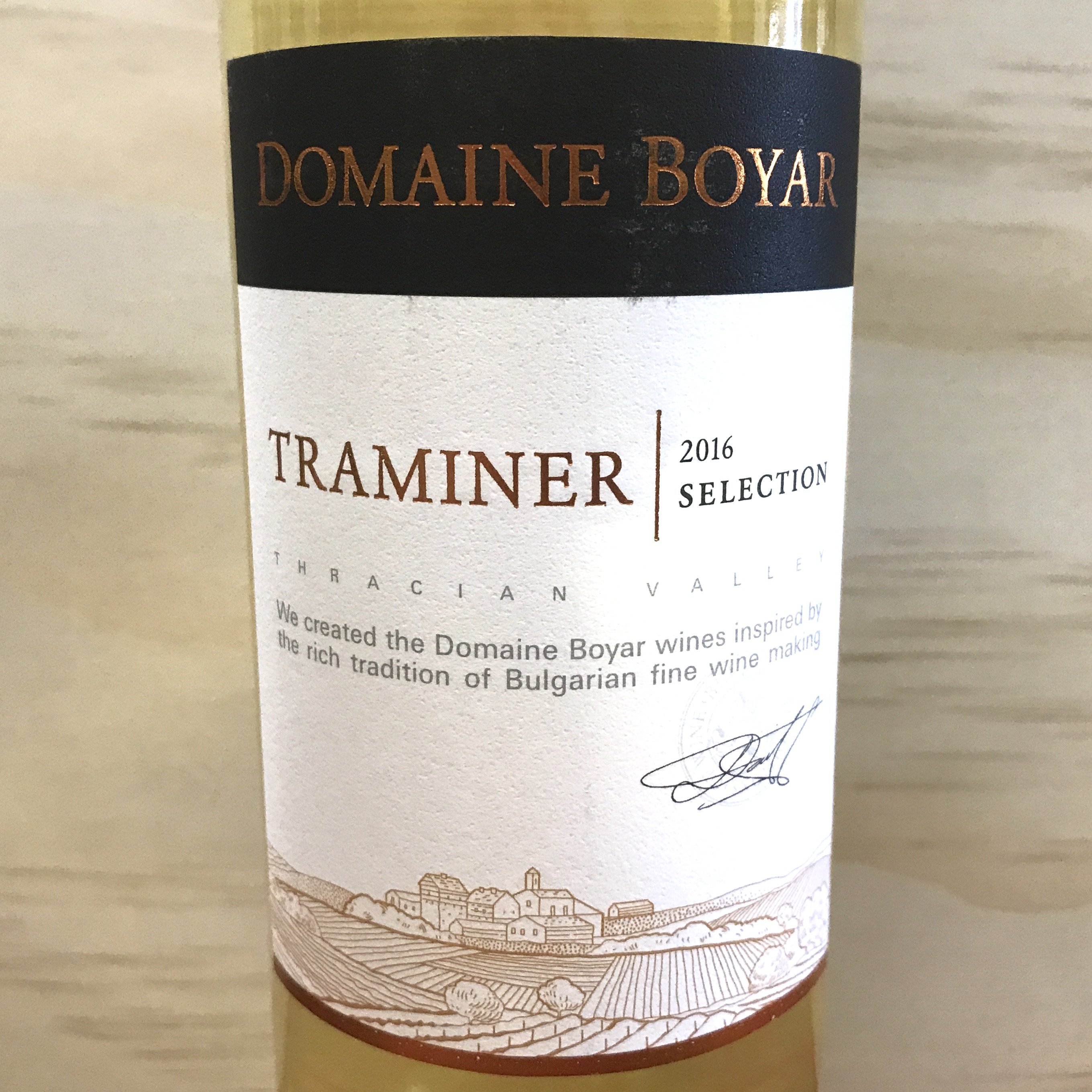 Domaine Boyar Traminer Selection 2016 Bulgaria