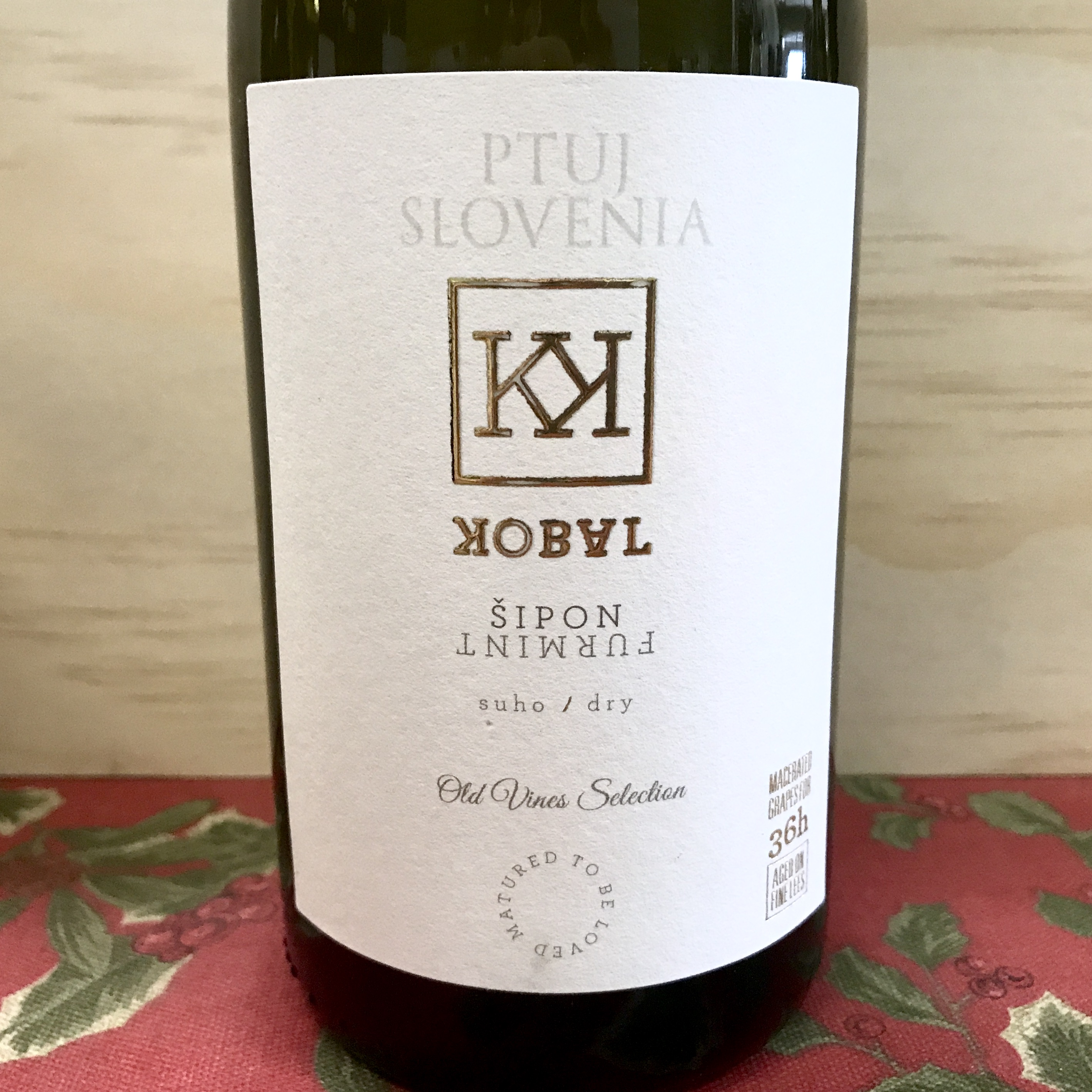 Kobal Dry Furmint Old Vines Selection Slovenia 2018