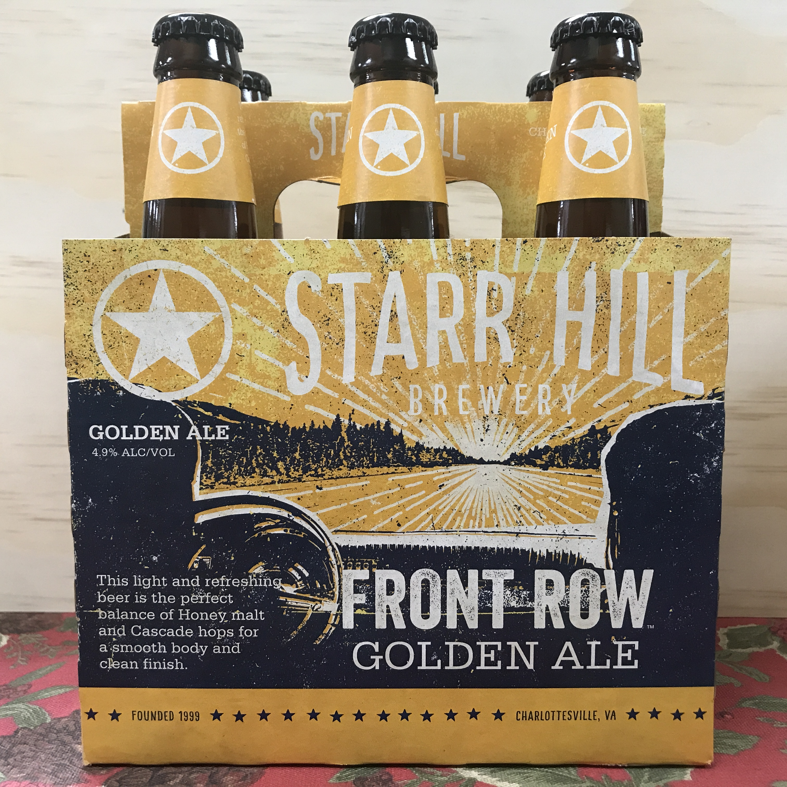 Starr Hill Front Row Golden Ale 6 x 12oz bottles