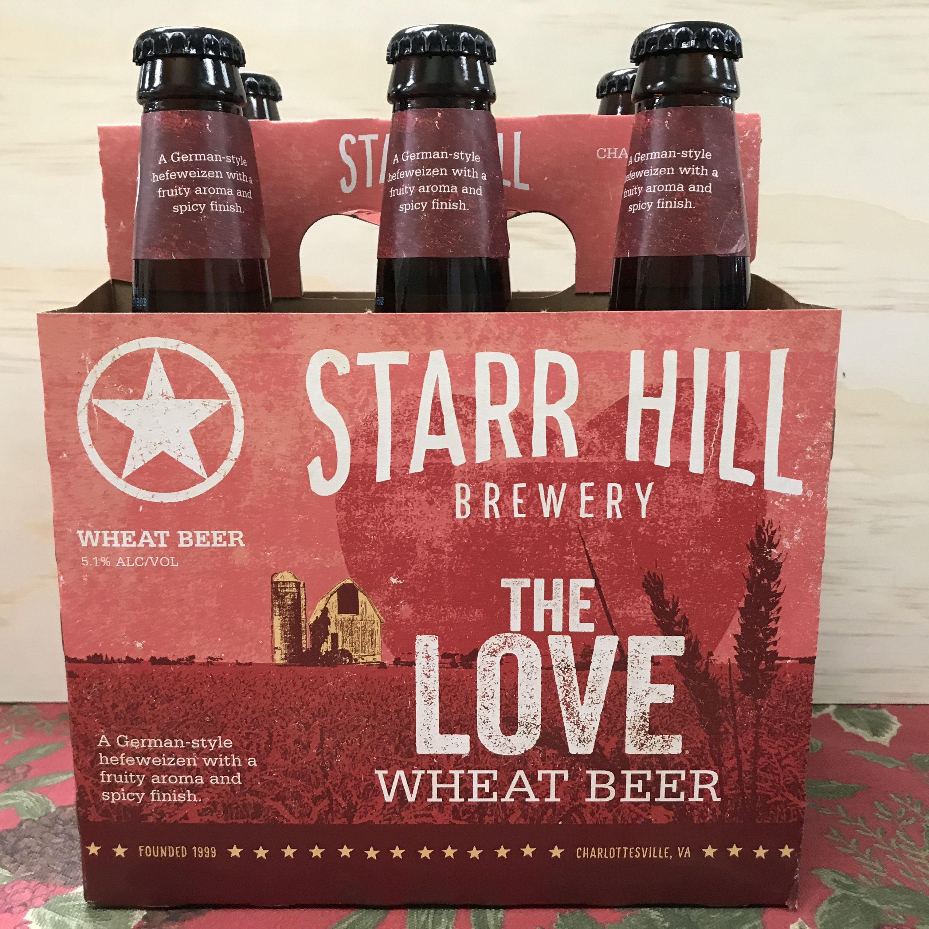 Starr Hill The Love Wheat Beer 6 x 12 oz