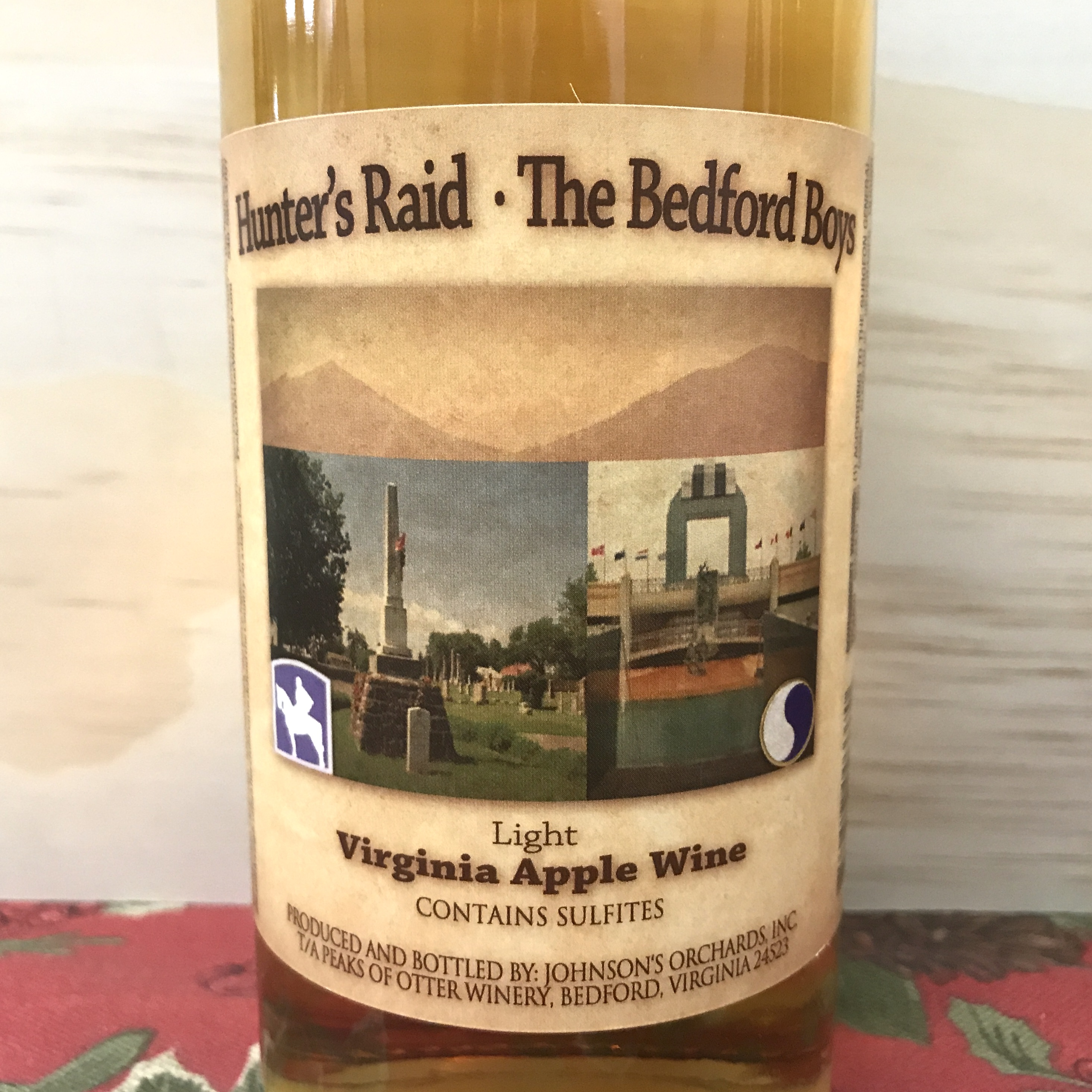 Peaks of Otter Hunter's Raid - Bedford Boys Virginia Apple wine