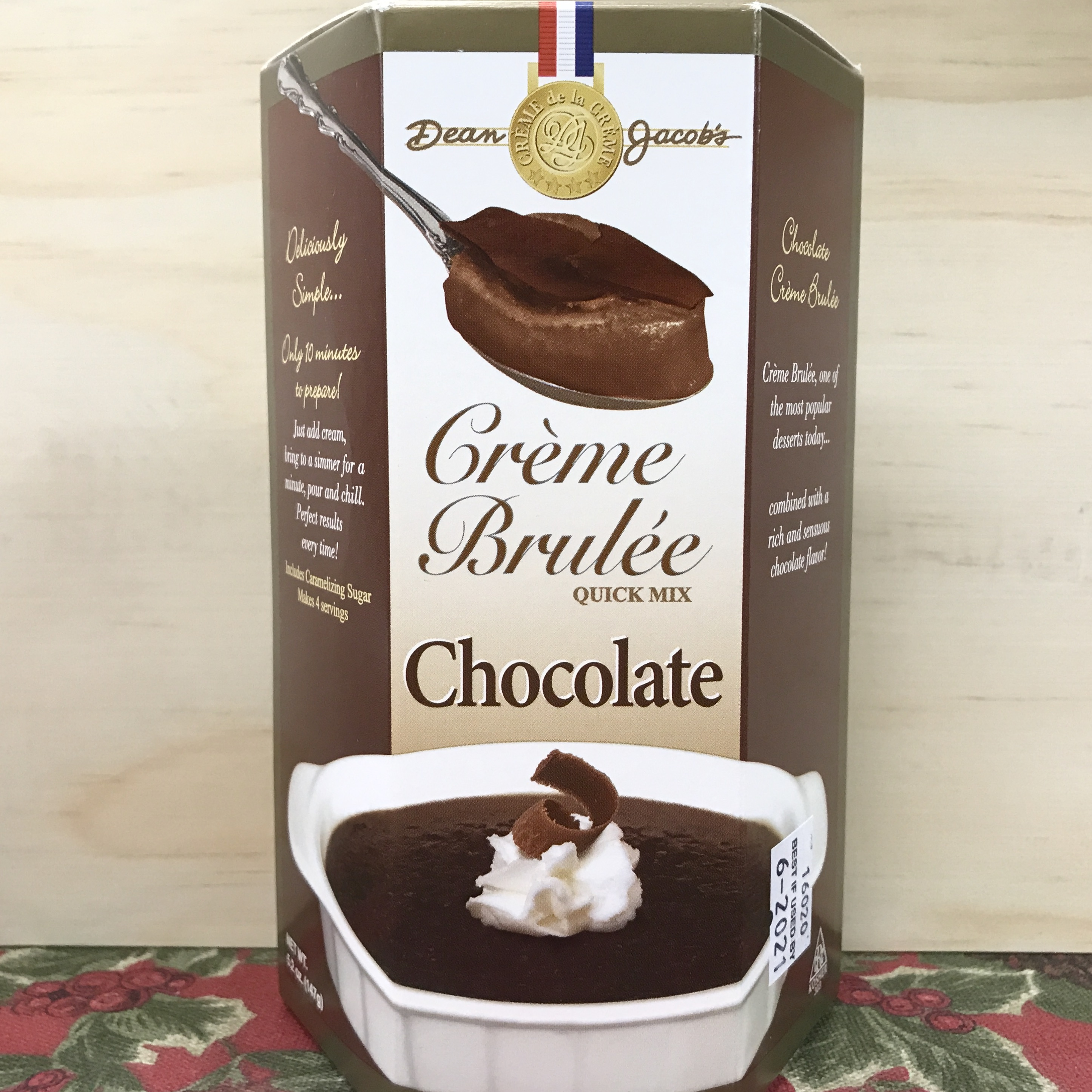 Dean Jacob's Chocolate Creme Brulee mix 5.2 oz