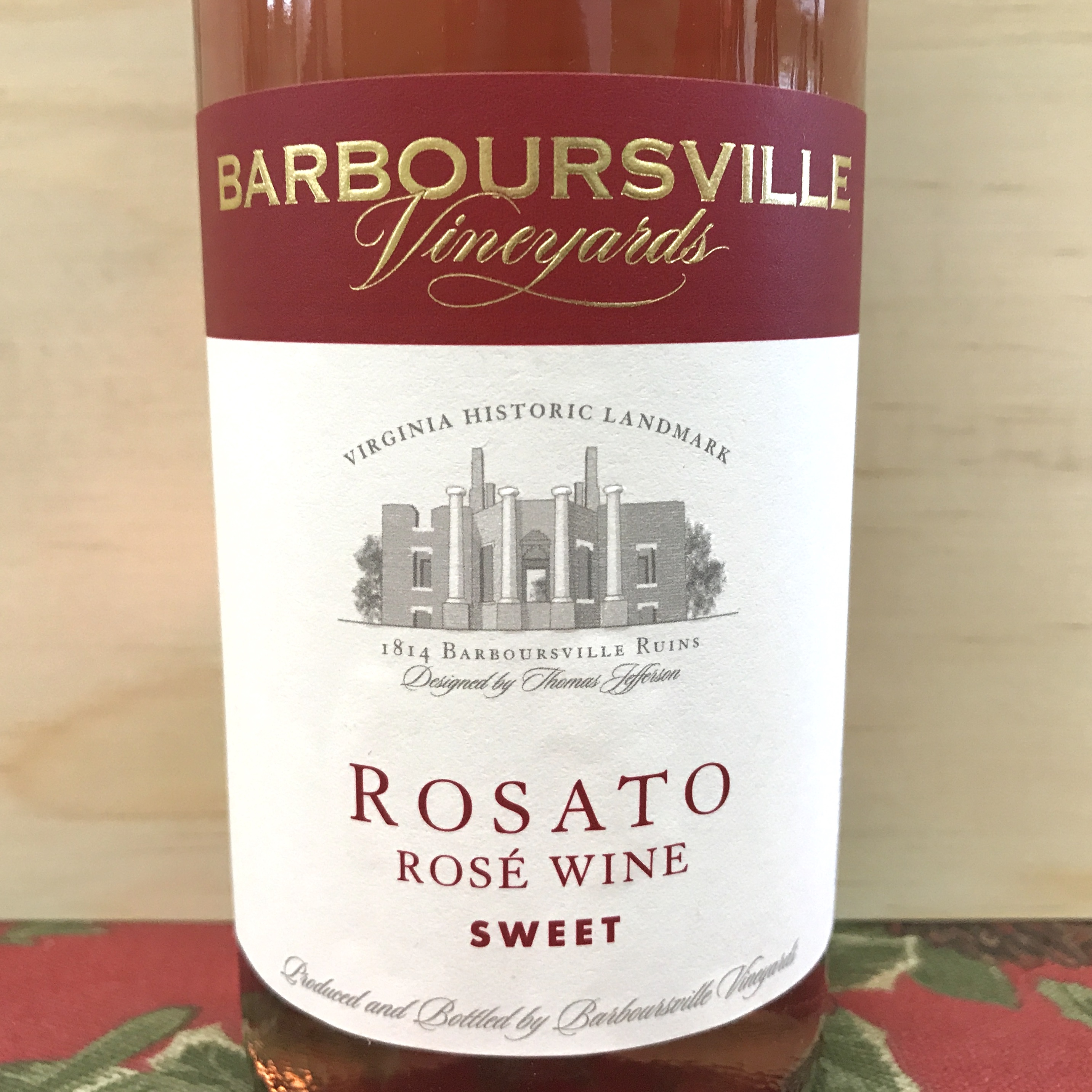 Barboursville Rosato Rose sweet wine