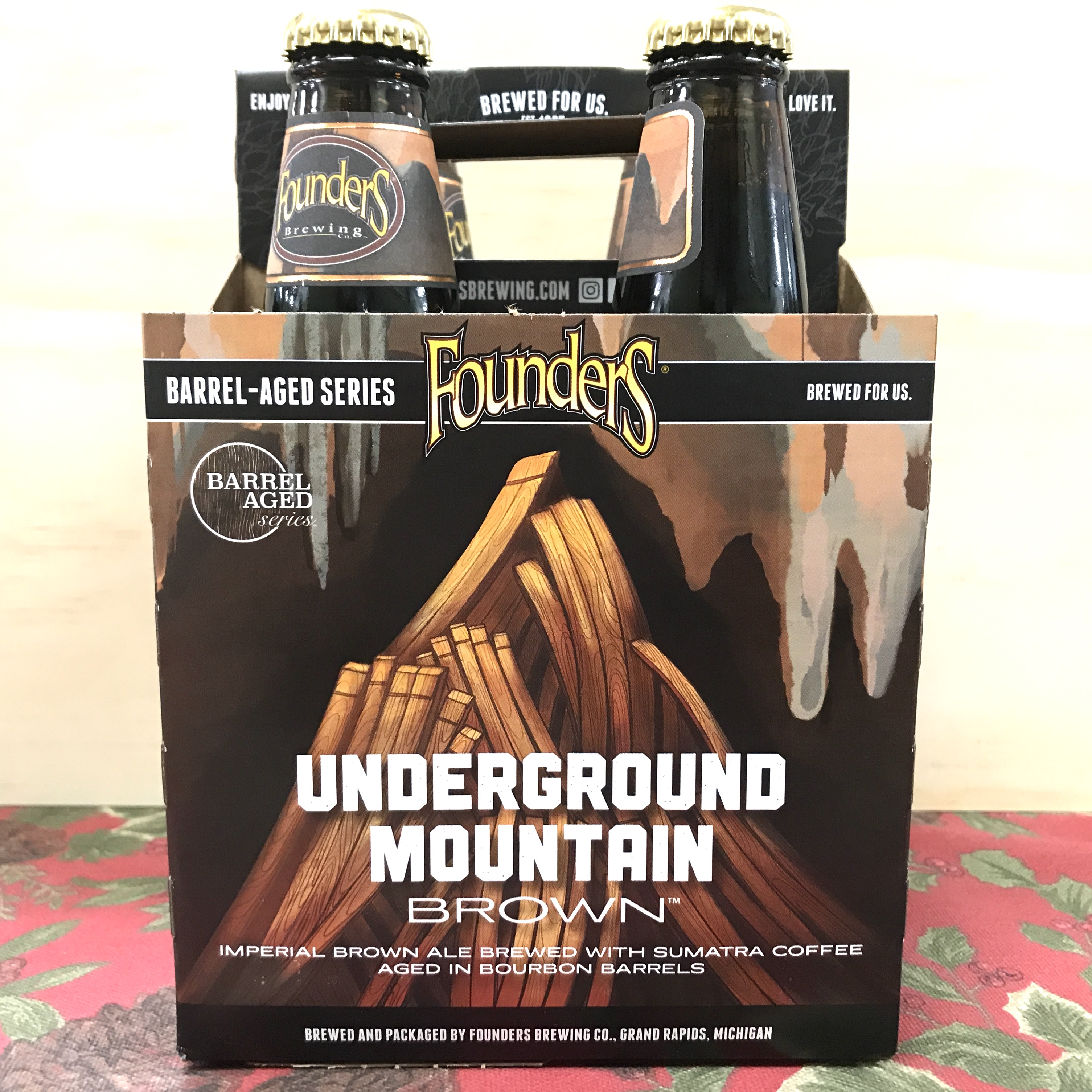 Founders Underground Mountain Brown Imperial Ale 4pk/12oz