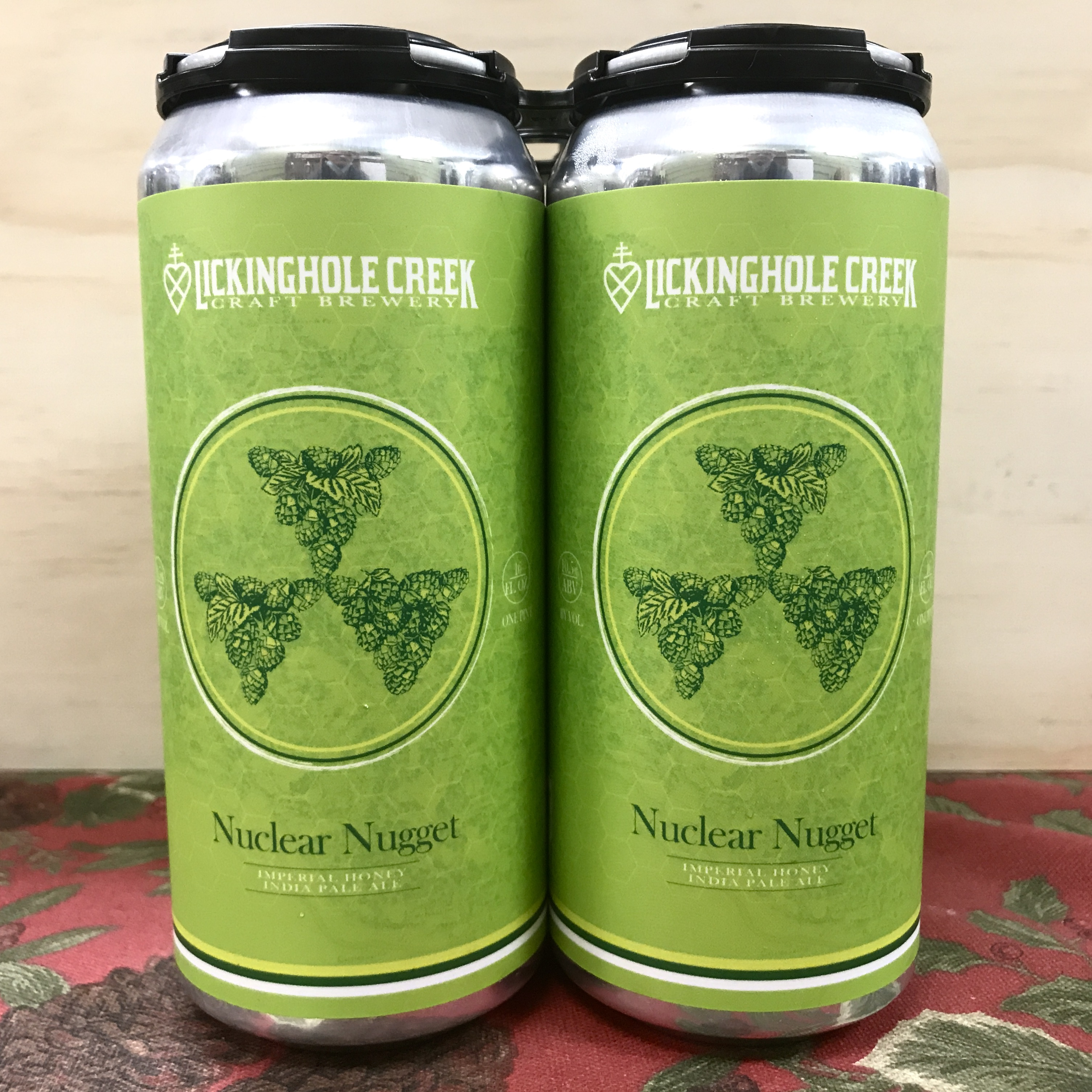 Lickinghole Creek Nuclear Nugget Imperial Honey IPA 4 x 16oz can
